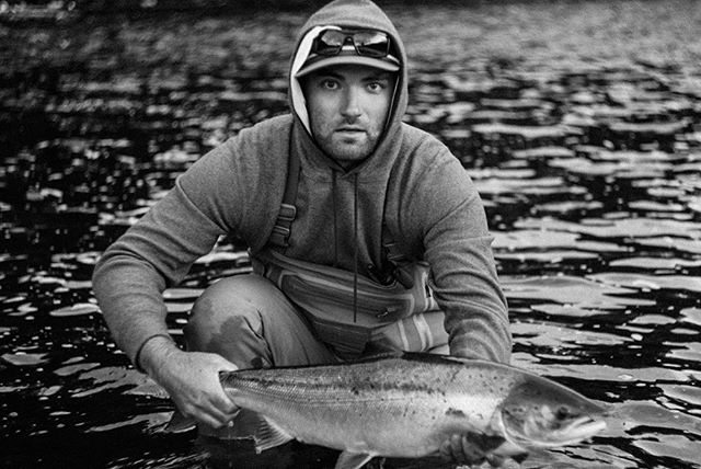 A rare picture of me on one of my favorite rivers. These two photos were taken at 11:15pm on the River Spey In Scotland. My family has been fishing here since the 1950's. Back then catching 40 fish in a week was not uncommon. Now, as a family, we're lucky to catch one. Still one of my favorite weeks of the year. . . . . . . . . #flyfishing #fishing #spey #skagit #skagitcasting #speycasting #flycasting #salmon #atlanticsalmon #scotishsalmon #riverspey #scandi #scandicasting #seatrout #scotland #speysalmon