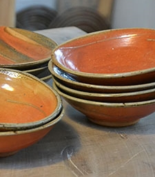Bowls with turned foot