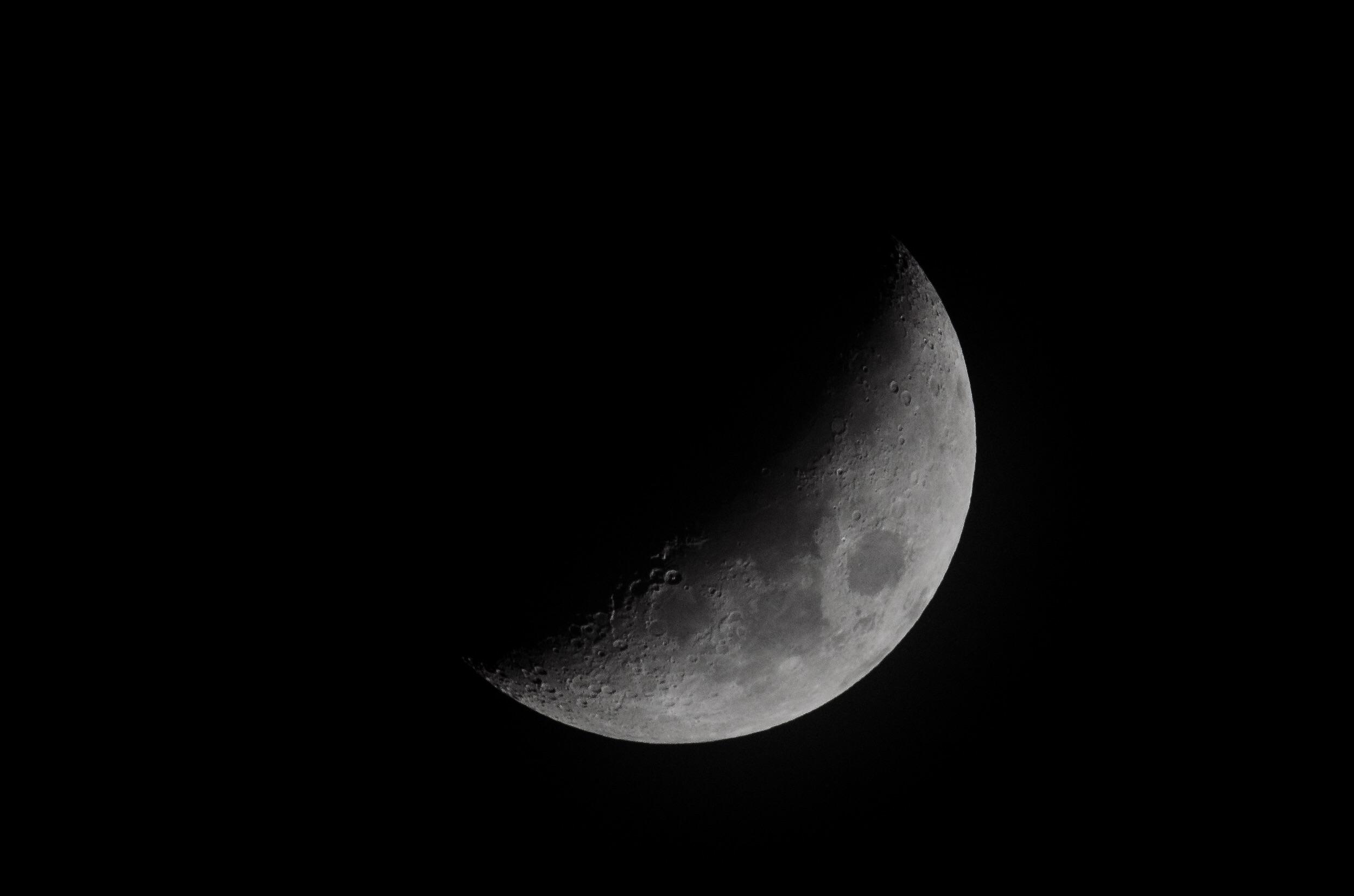 Misty Moon  Nikon D7000 ISO 800 600mm f/14 1/250sec.
