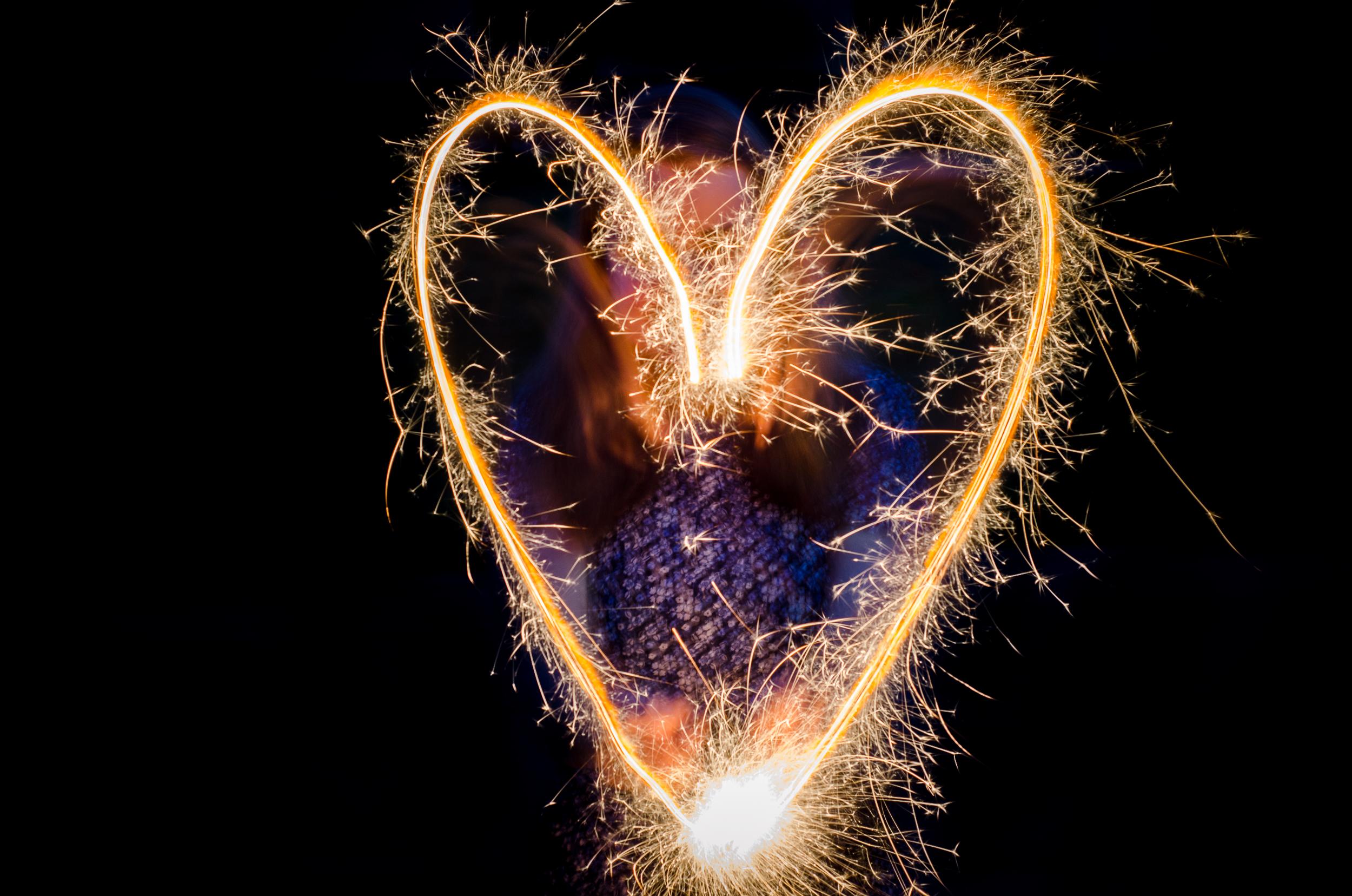Sparkler Love  Nikon D7000 ISO 100 f/8 50mm 2 sec.