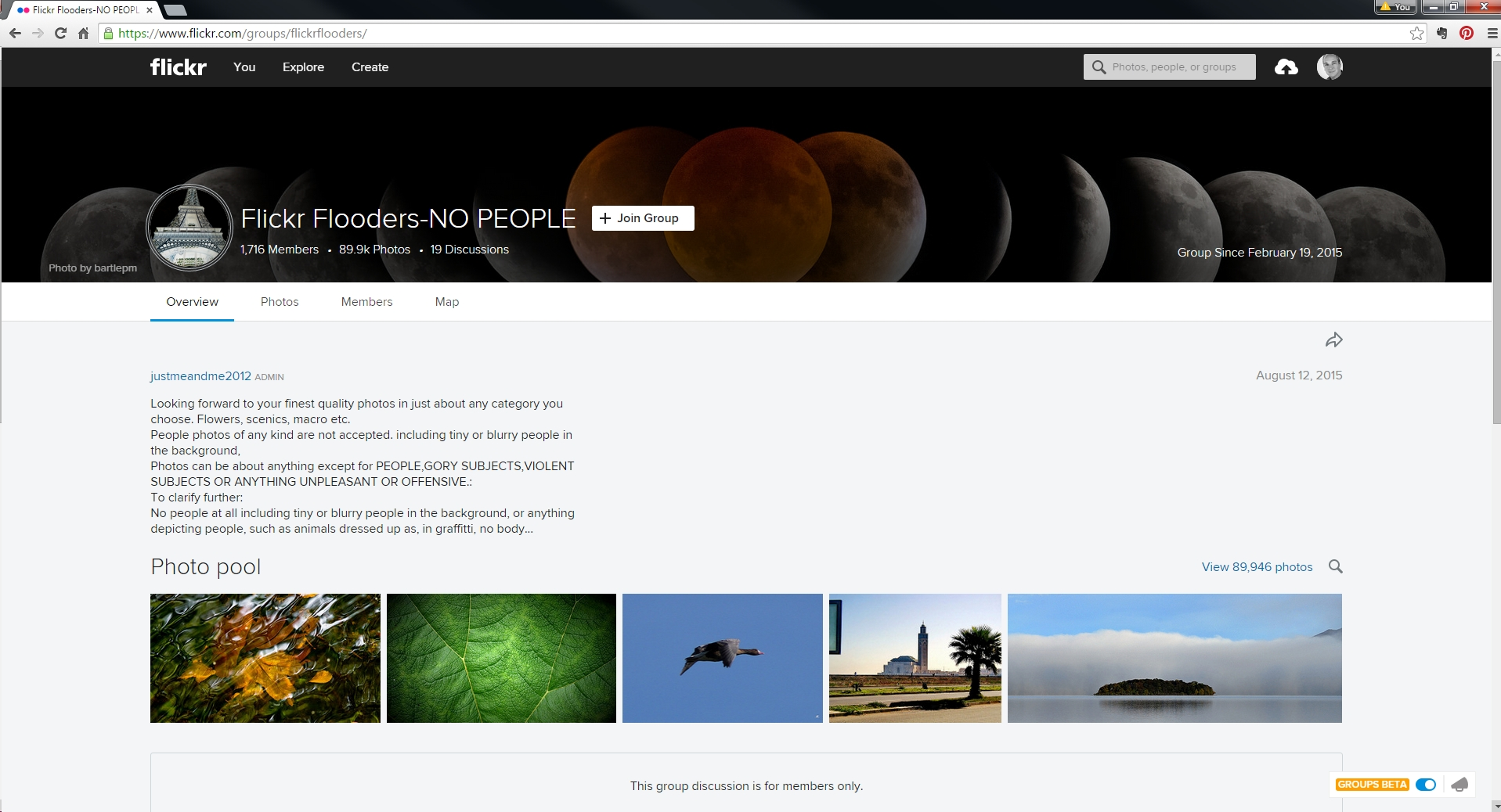 Flickr Flooder's Cover featuring Timelapse Eclipse