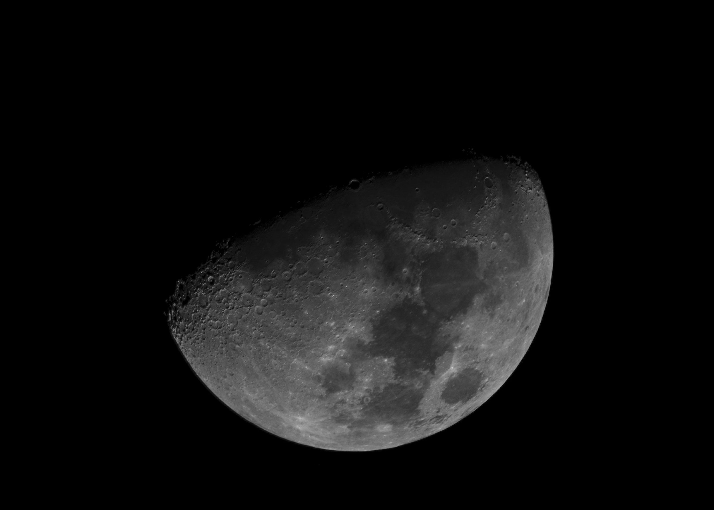 Waxing Moon 1219215  Nikon D750 ISO 250 1200mm f/8.0 1/250 sec. Stack of 35 images in RegiStax.