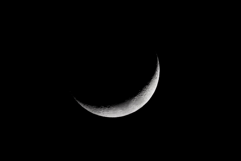 New Moon  Nikon D750 ISO 1600 600mm f/10 1/125 sec.