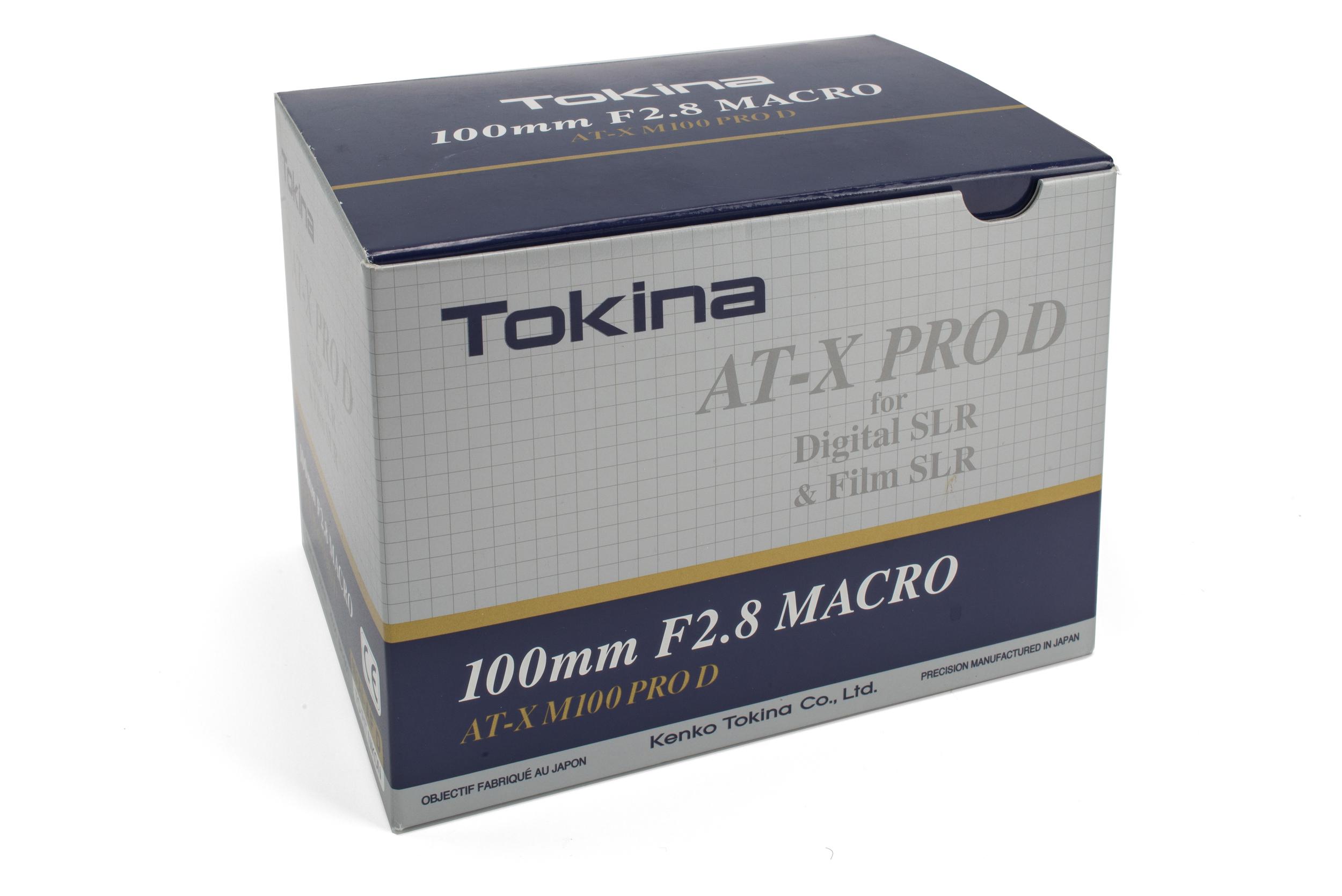 Packaging - Tokina 100mm f/2.8 Macro AT-X PRO D
