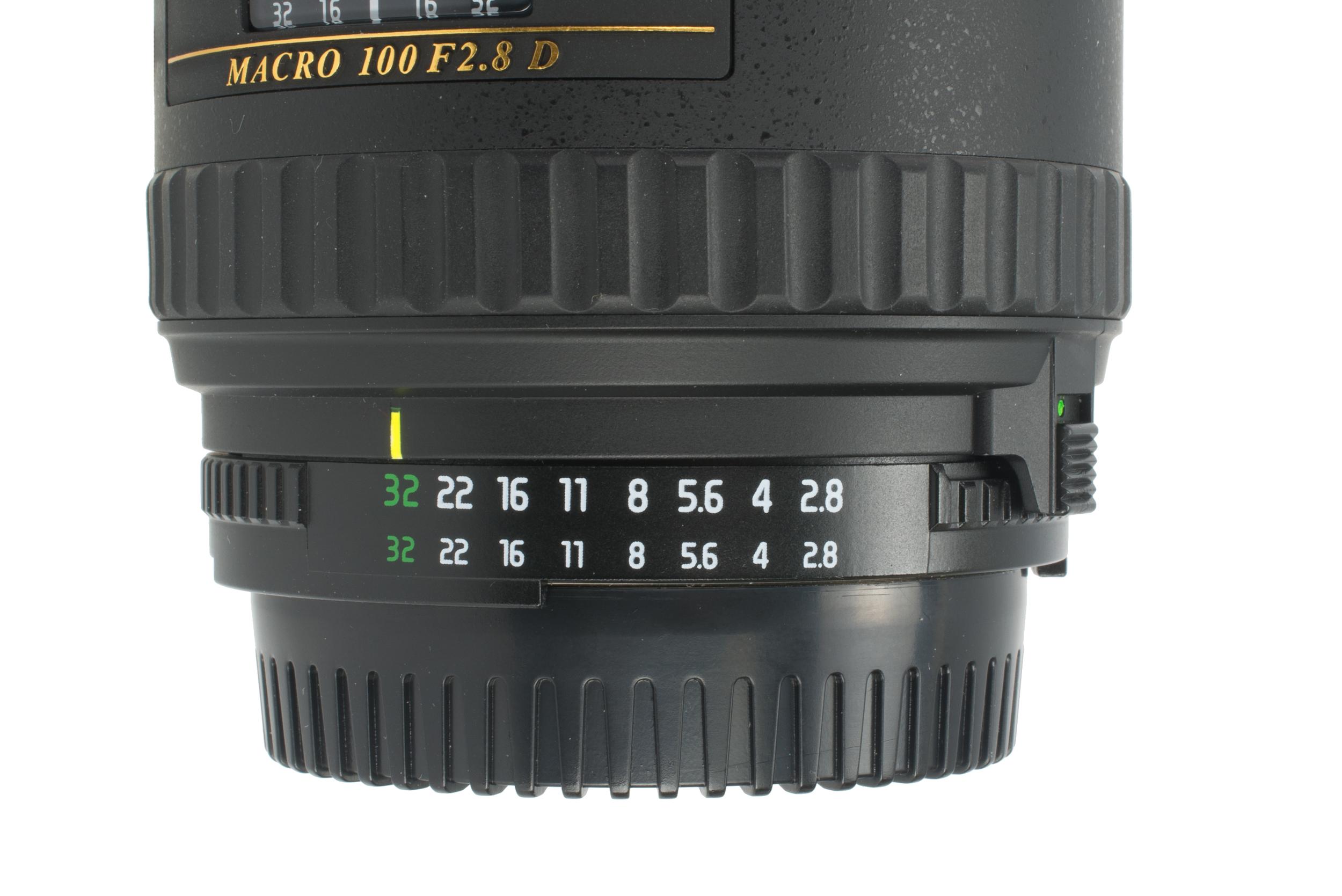 F-stops - Tokina 100mm f/2.8 Macro AT-X PRO D