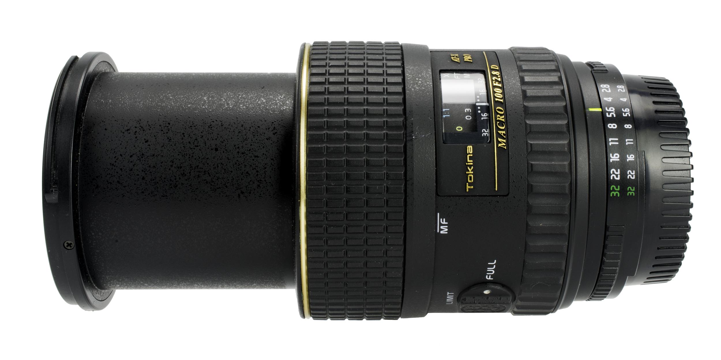 Focused at 0.3 meter/12-inches -Tokina 100mm f/2.8 Macro AT-X PRO D