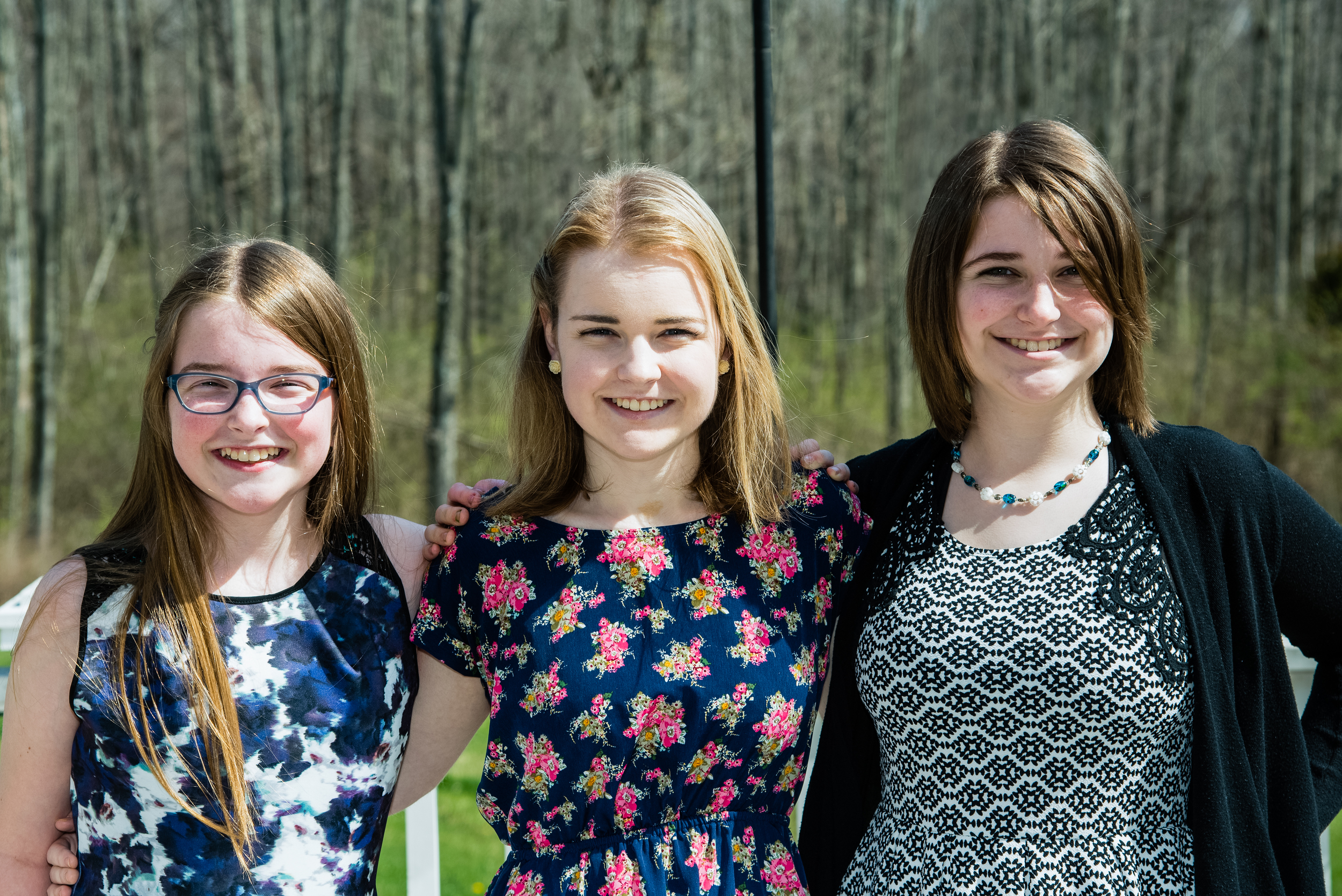 Madeline, Lily and Emma - Easter 2016  Nikon D750 ISO 100 70mm f/5.6 1/400 sec.