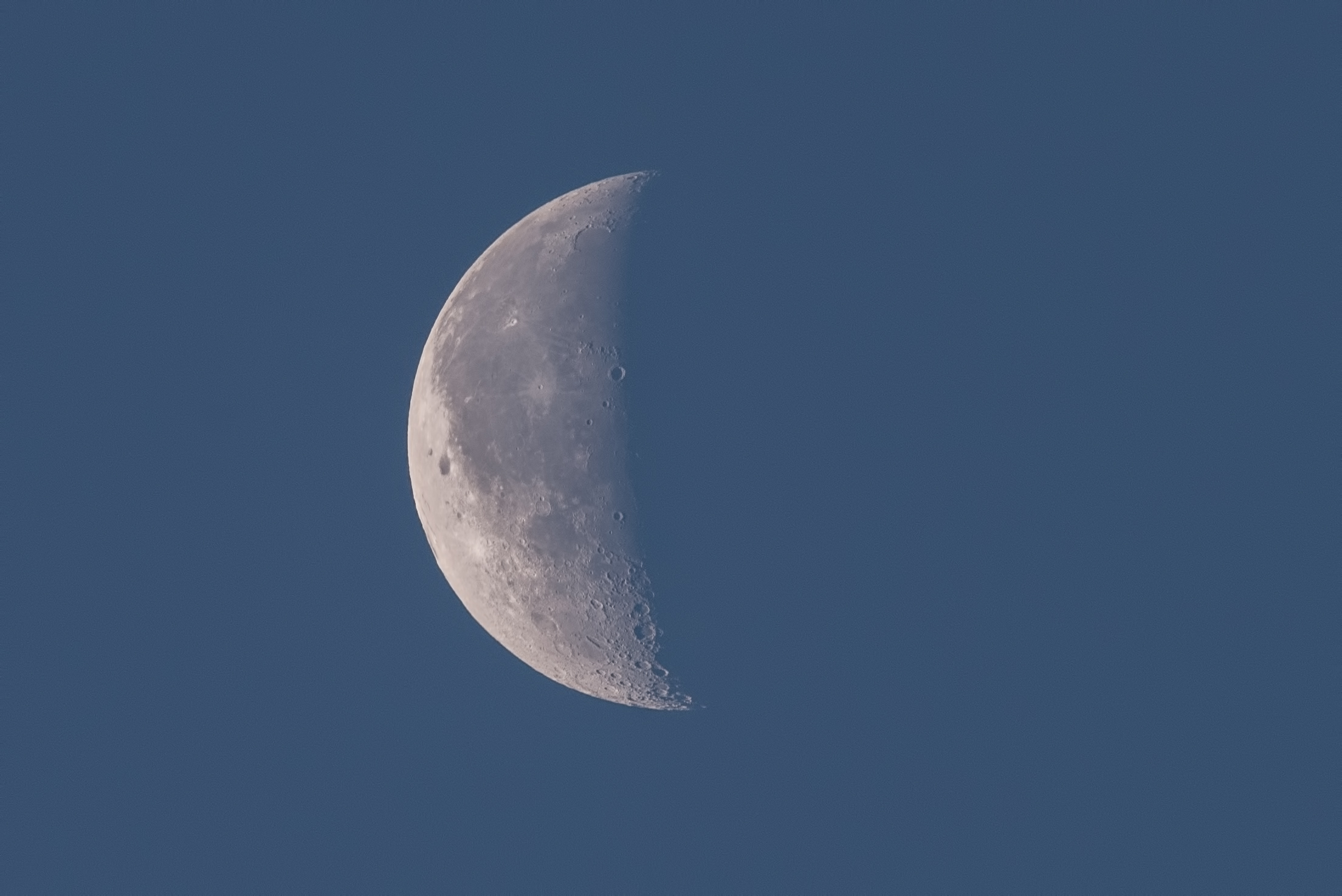 Waxing Crescent  Moon Nikon D750 ISO 400 600mm f/11 1/250 sec.