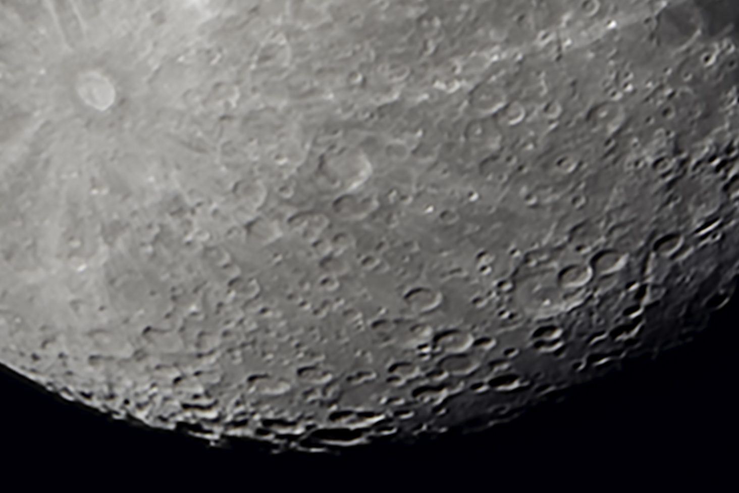 1:1 Close-up of Moon - 40 image stack in RegiStax
