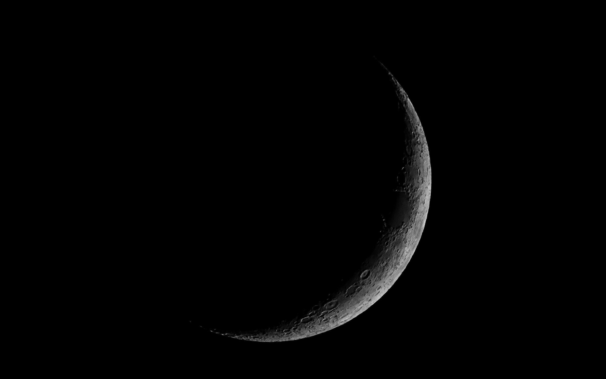 Waxing Crescent Moon 8% Illumination