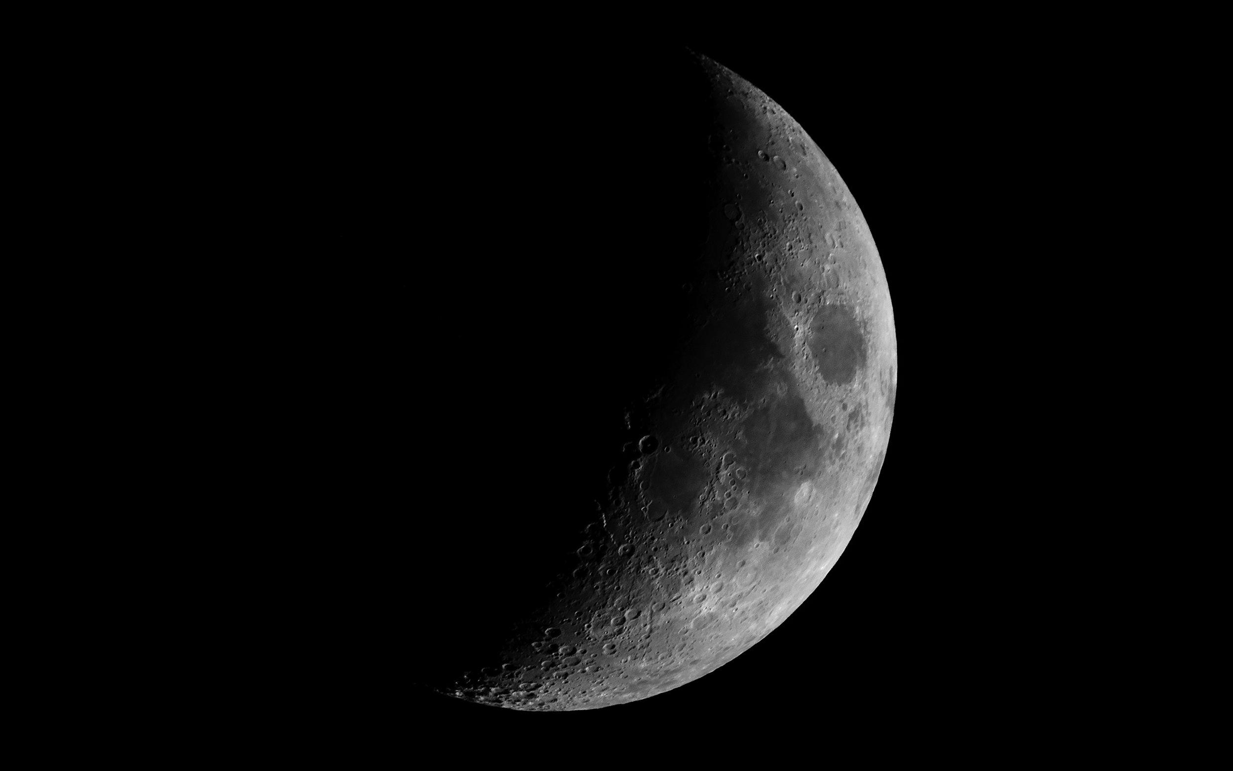 Waxing Crescent Moon - 27% Illuminated 5 days old