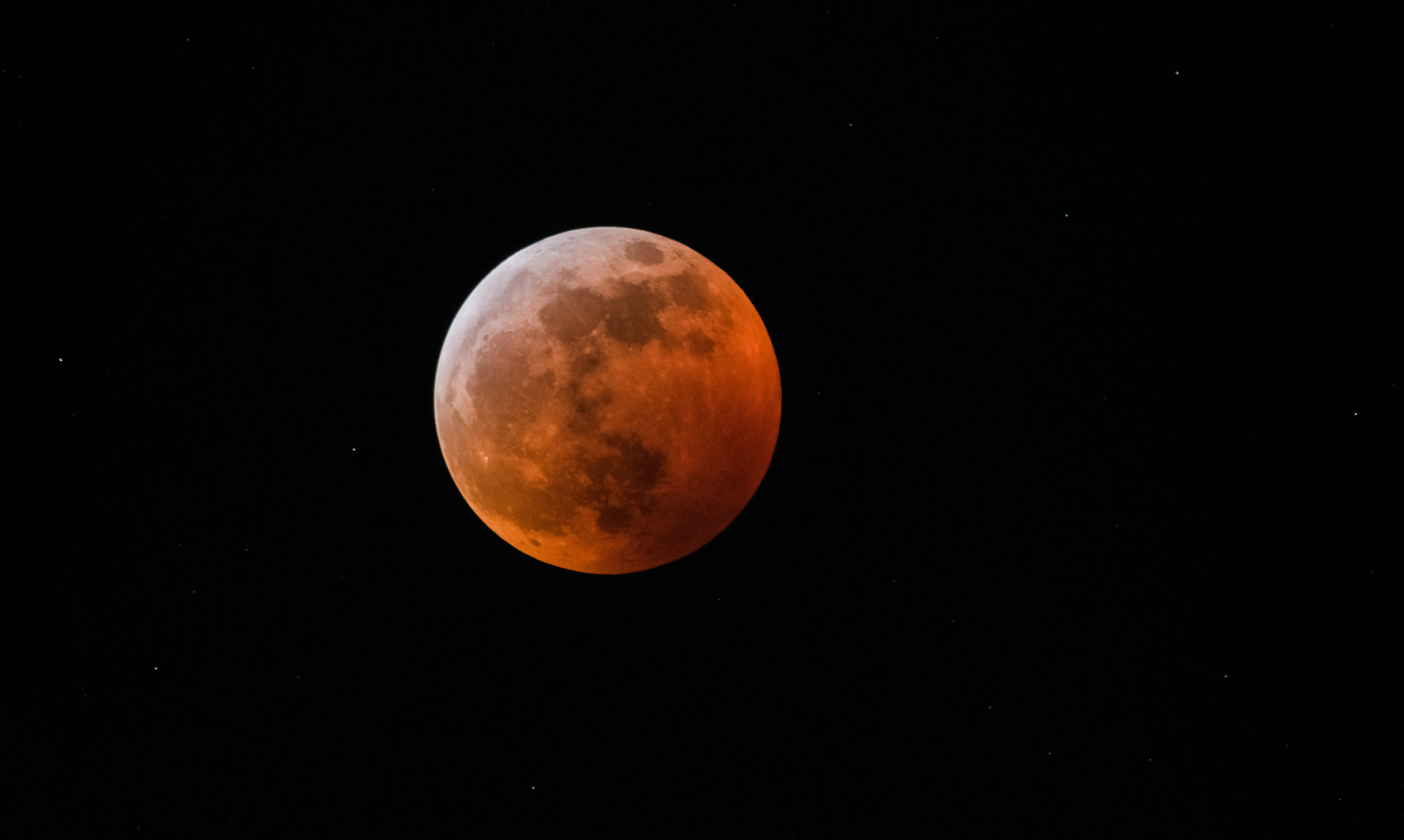 Super Blood Wolf Moon -Llunar Eclipse Near Totality