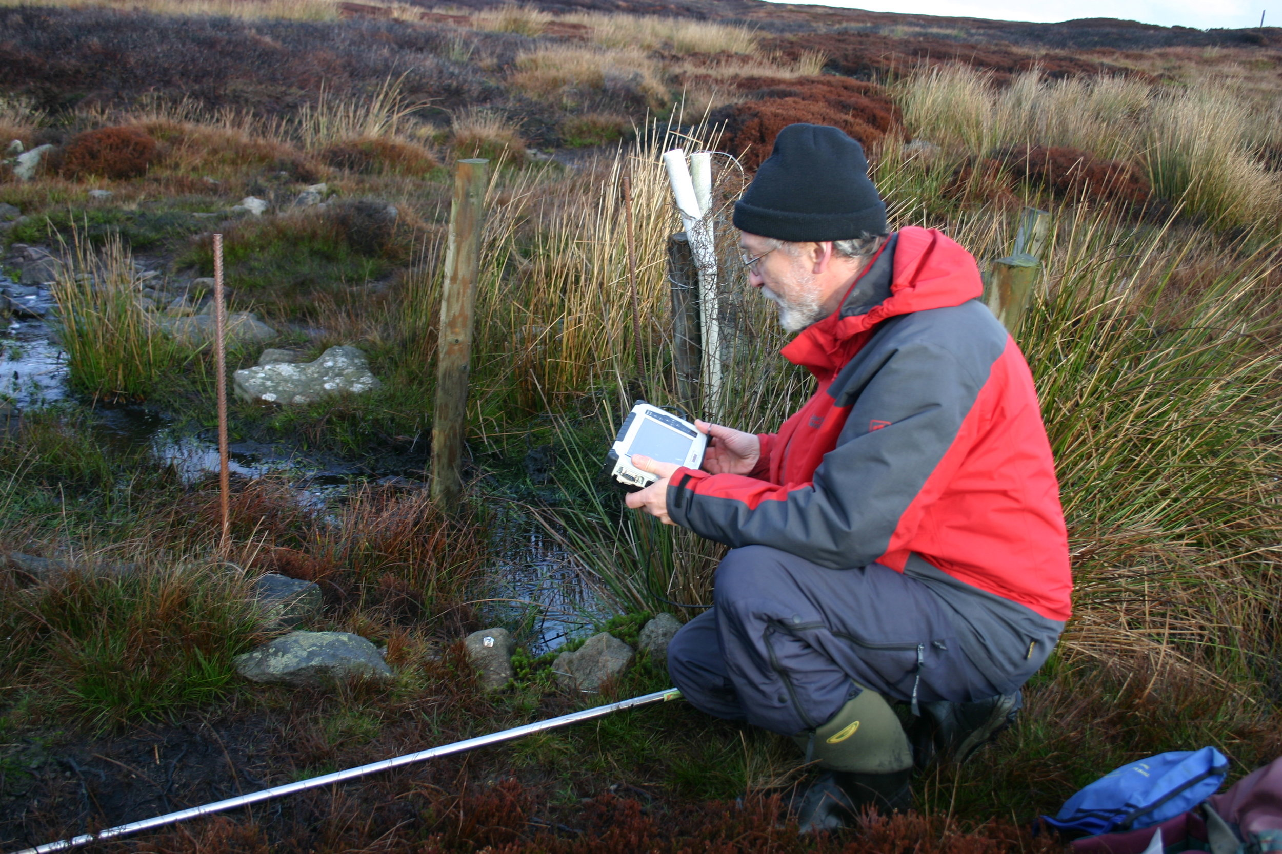 data logging at the mossdale site of the peatland-es-uk long-term experiment