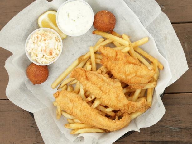 Catfish Dinner Hushpuppies Fries Cole Slaw Best in Bluegrass