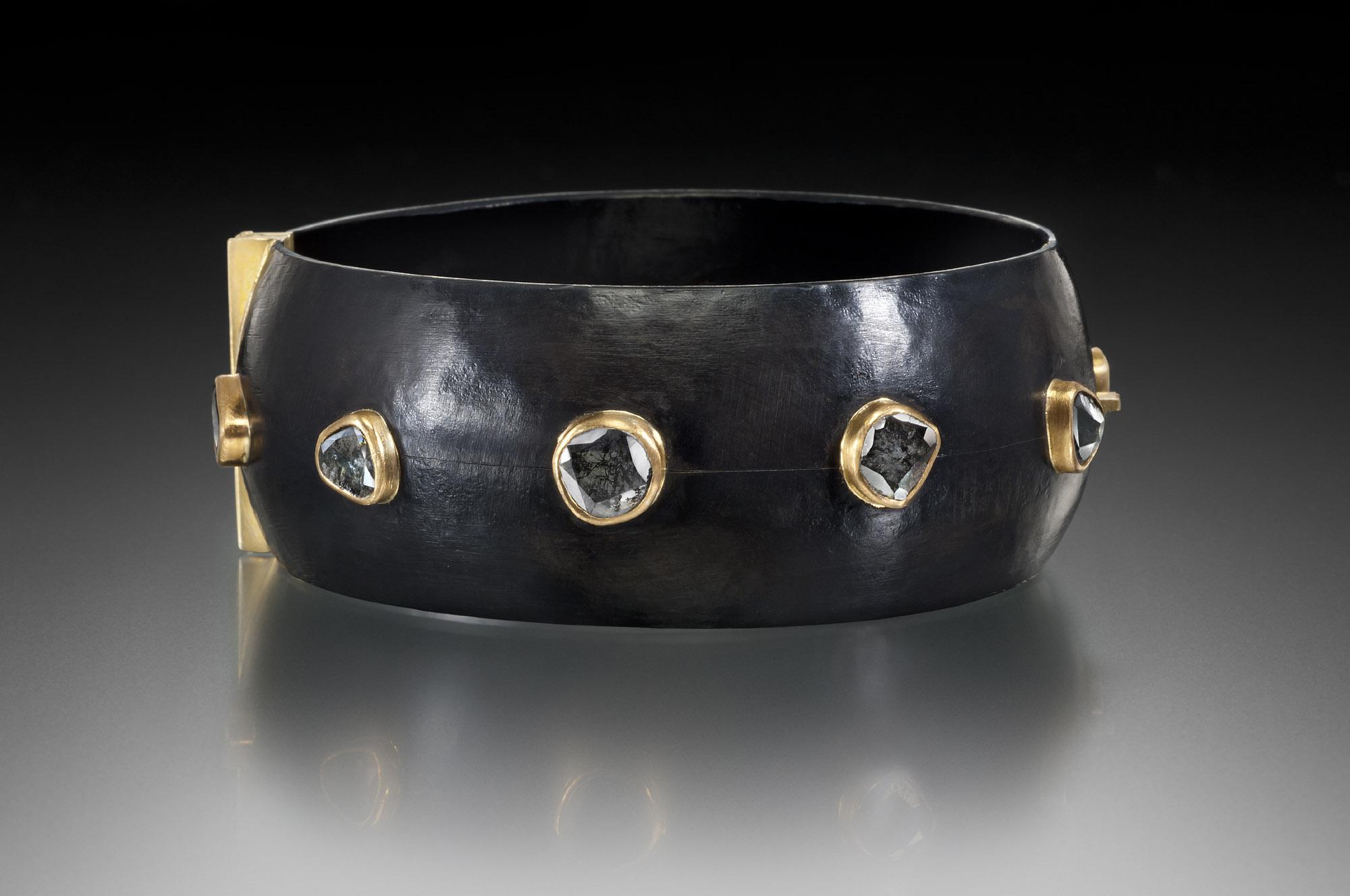 Diamond Slice Locking Bracelet