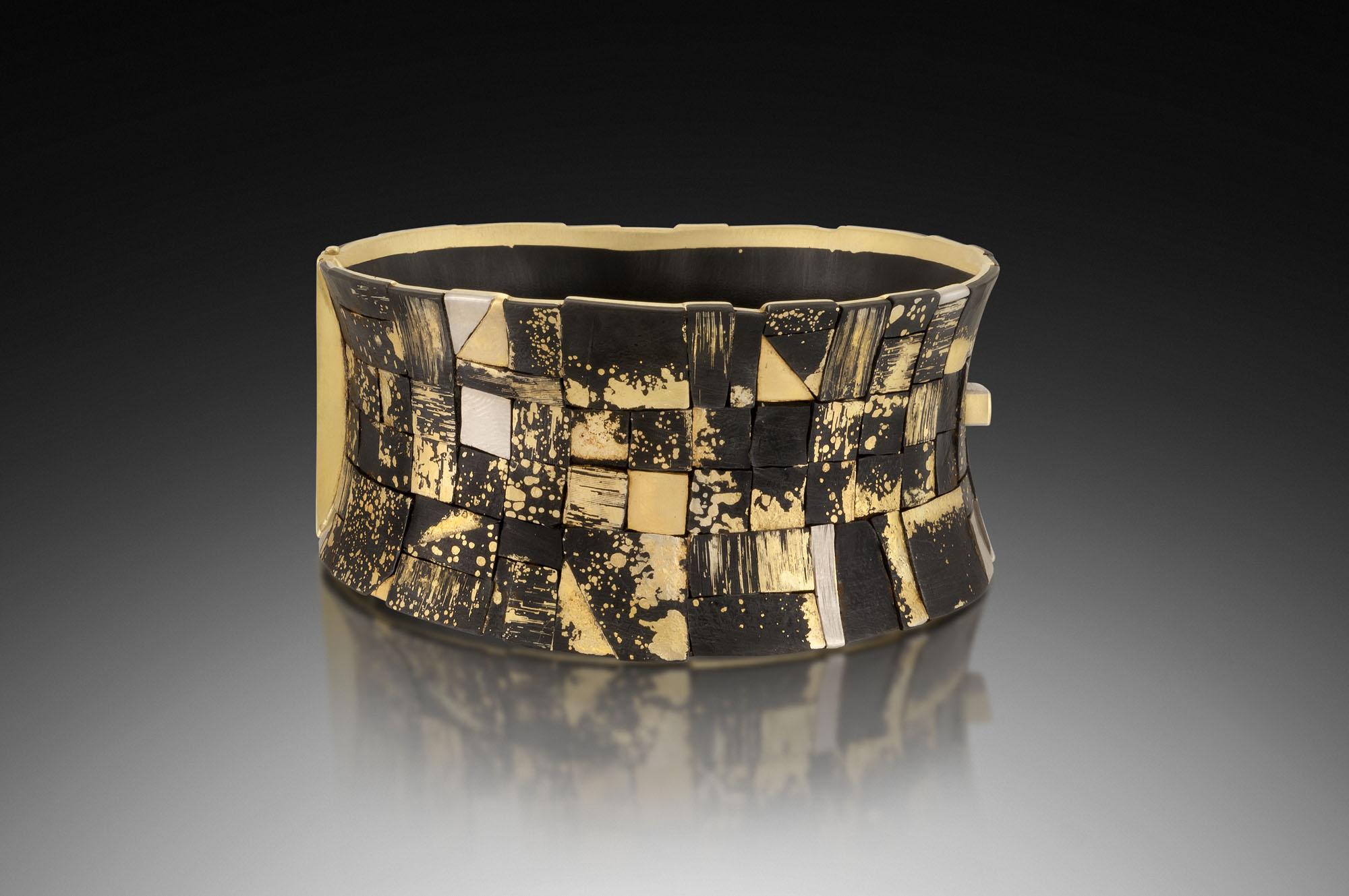 Dished Mosaic Locking Bracelet