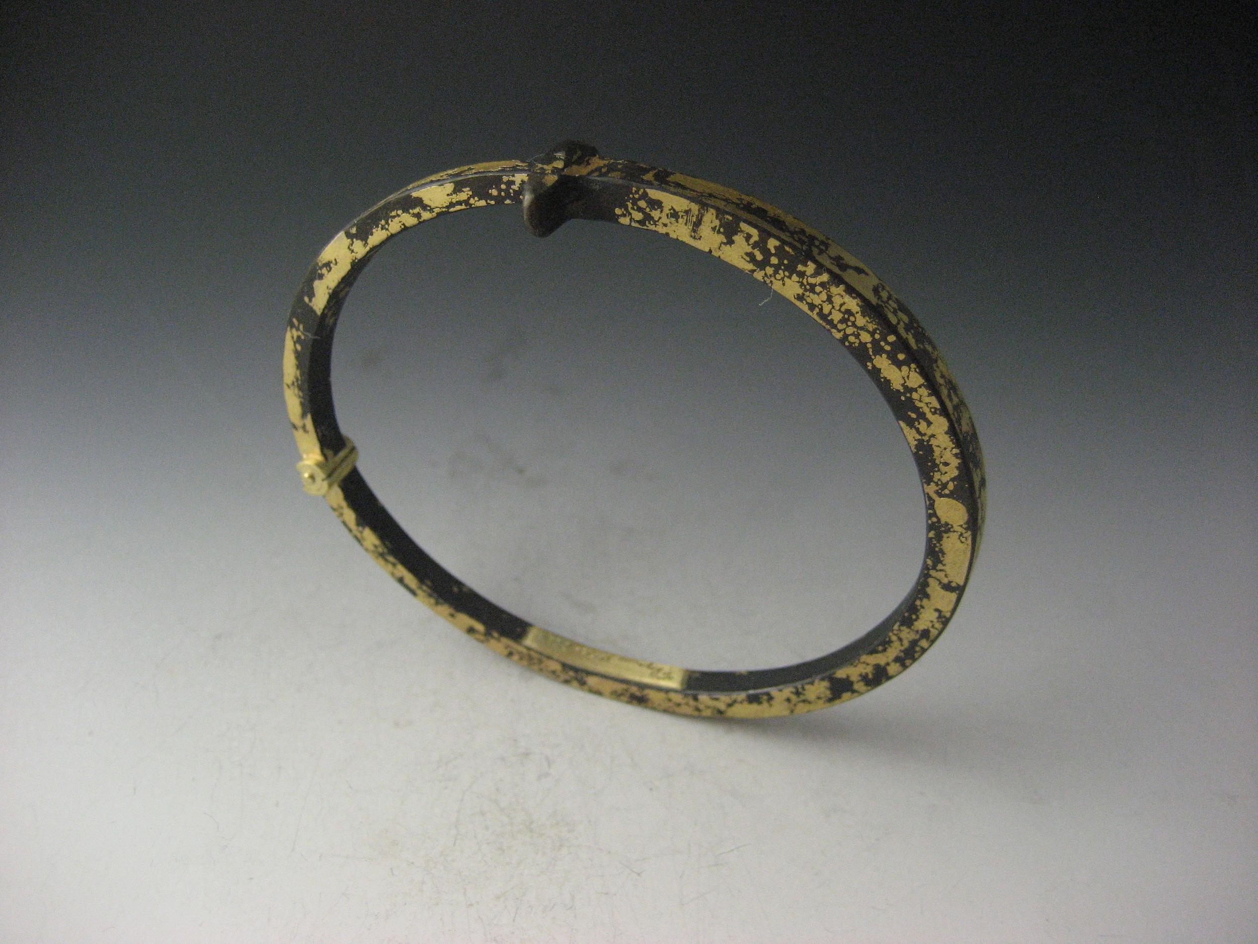 22K Men's Gold Dust Nail Bracelet