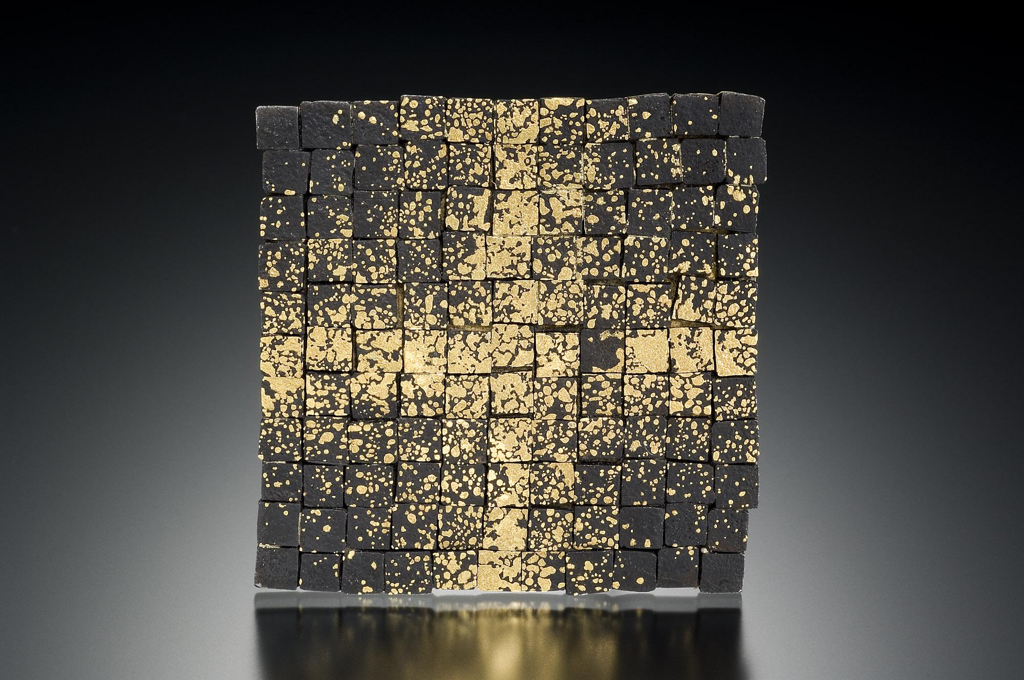 Grid Mosaic Brooch