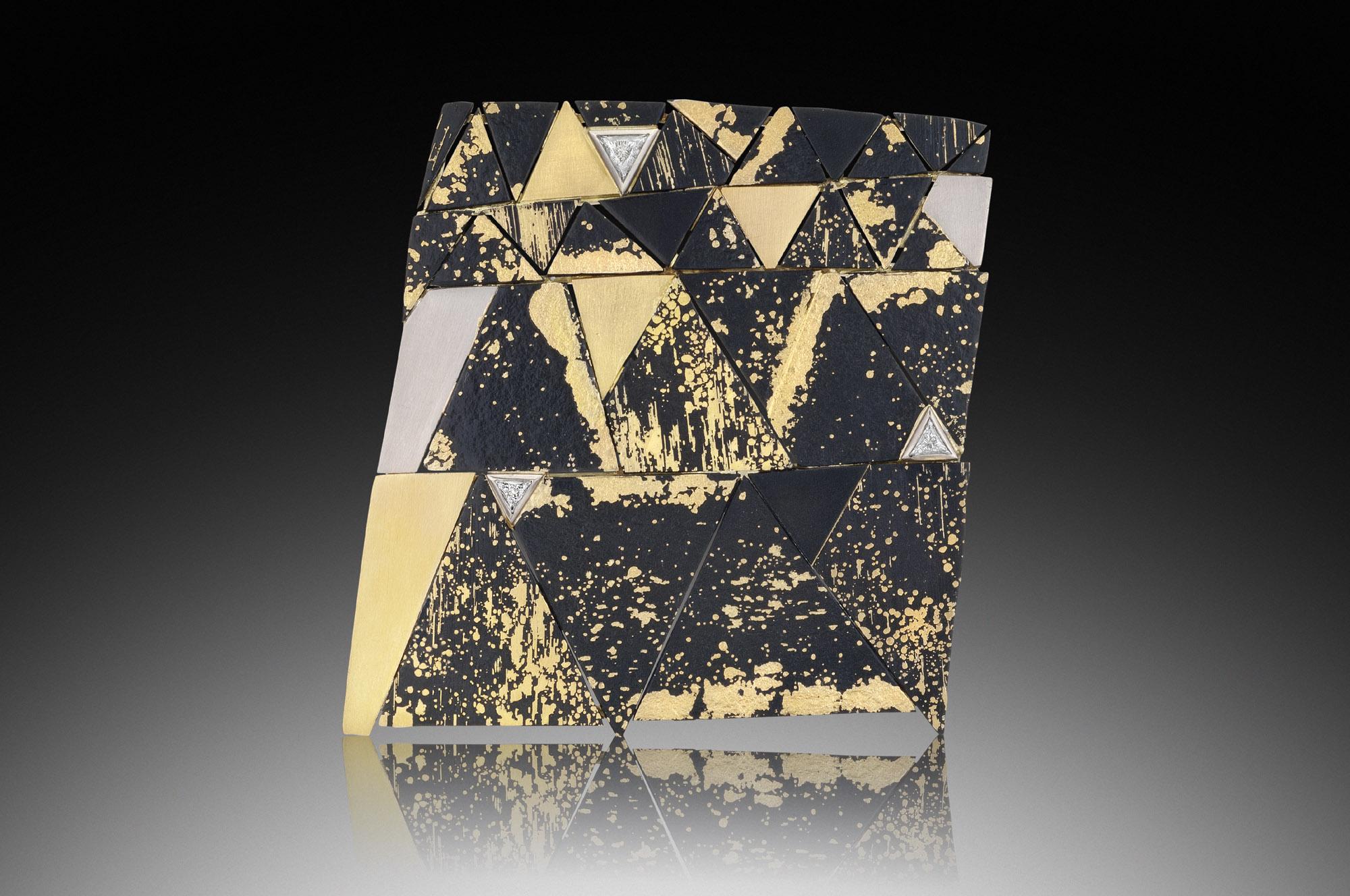 Rectangle Mosaic Brooch