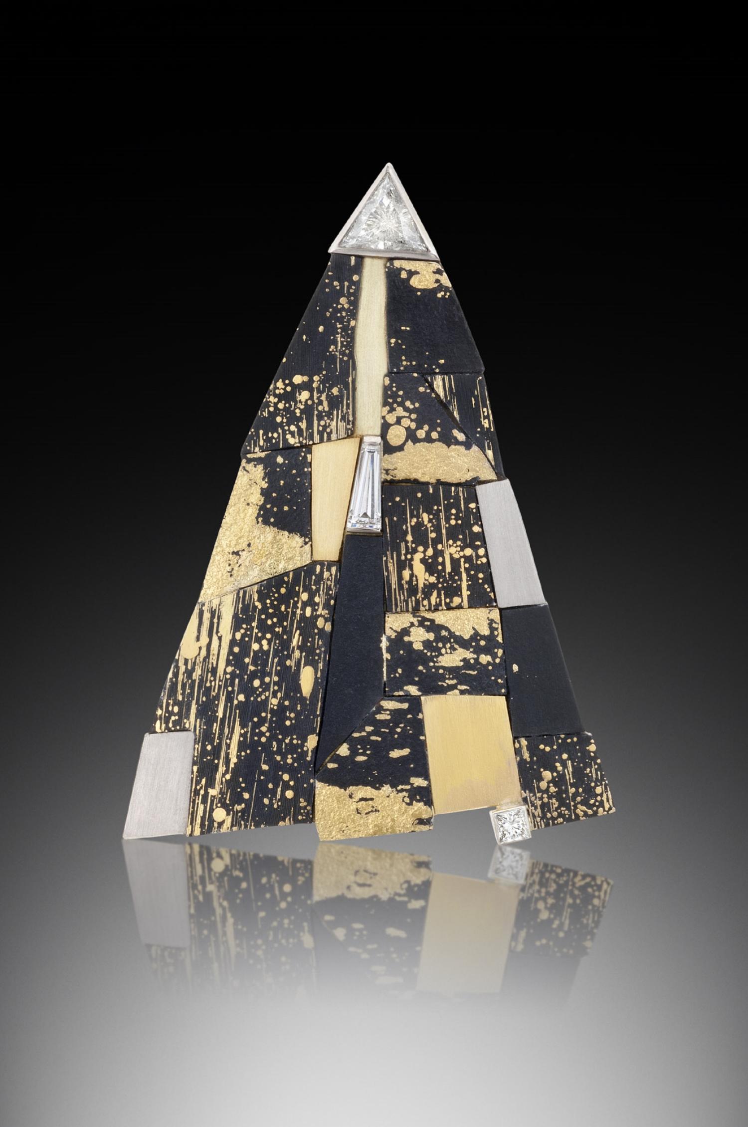 Triangle Mosaic Brooch