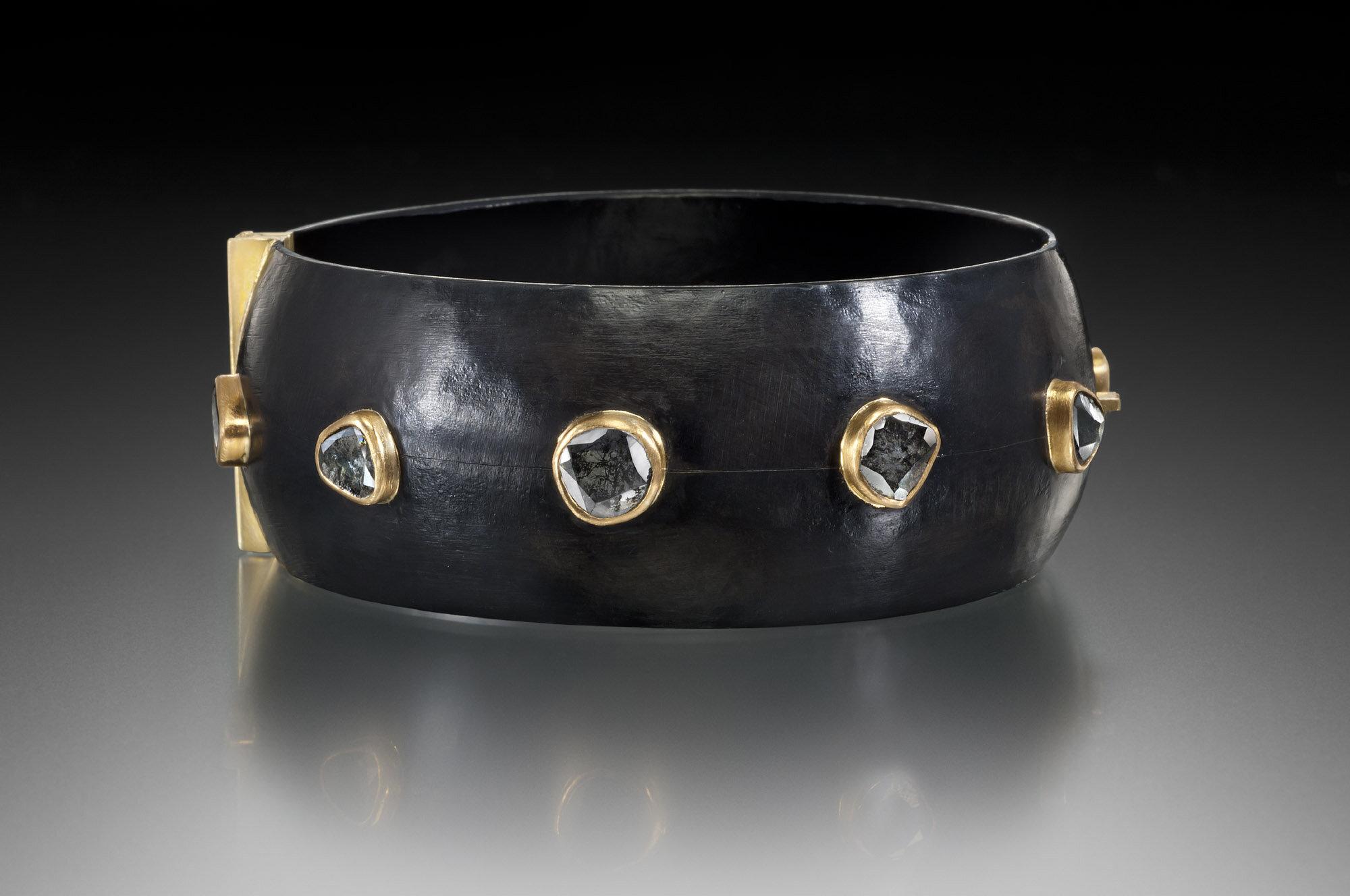 Diamond Slice Cuff- Black.jpg