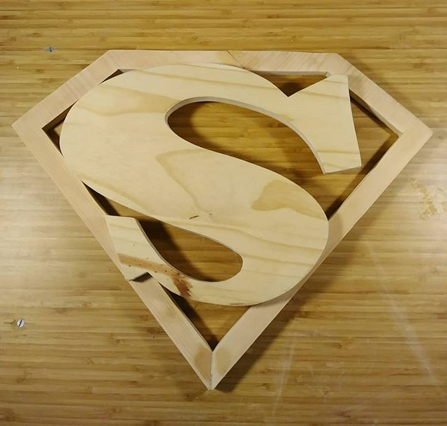 Superman logo 1941 circa. Pine, and upcycled wood. (Commissioned piece.) · · · Message me if you're interested in a custom wood sculpture! And feel free to ask me any questions.  #strayones #processshot  #upcycledwood #superman  #superheroes #dc #dccomics #wood #woodart #woodsculpture. #woodletters #woodsign #streetart #guerillaart #montana #spraypaint #sprayart #brooklyn  #streetartsculpture #sculpturestreetart #nystreetart #nycstreetart #newyorkcity #nyart #Streetsculpture #nyc #3dgraffiti #art #sculpture #3dletters