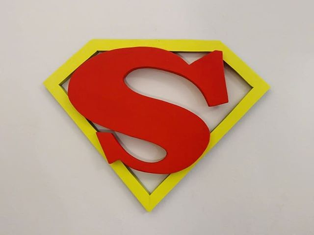 Superman logo. 1941 circa. (Finalized commission. Handmade from pine and upcycled wood.) Guys message me if you're interested in a custom wood sculpture!  If you're interested and not sure what you want, message me I'll help you figure it out.  #Strayones #superman #dccomics #streetart #bkstreetart #guerillaart #montana #spraypaint #sprayart #brooklyn #art #sculpture #wood #woodart #woodsculpture  #woodletters #woodsign #streetartsculpture #sculpturestreetart #nystreetart #nycstreetart #nyart #Streetsculpture #nyc #graffiti #graffitiart #nycgraffiti #woodgraffiti #3dgraffiti