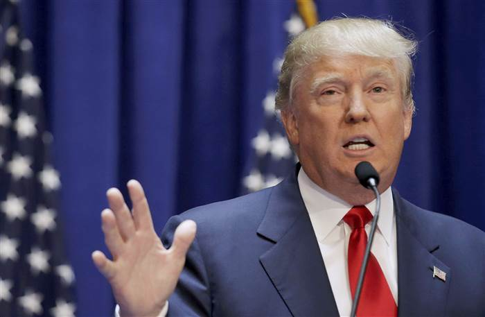 Reuters  U.S. Republican presidential candidate, real estate mogul and TV personality Donald Trump formally announces his campaign for the 2016 Republican presidential nomination during an event at Trump Tower in New York June 16, 2015. REUTERS/Brendan McDermid