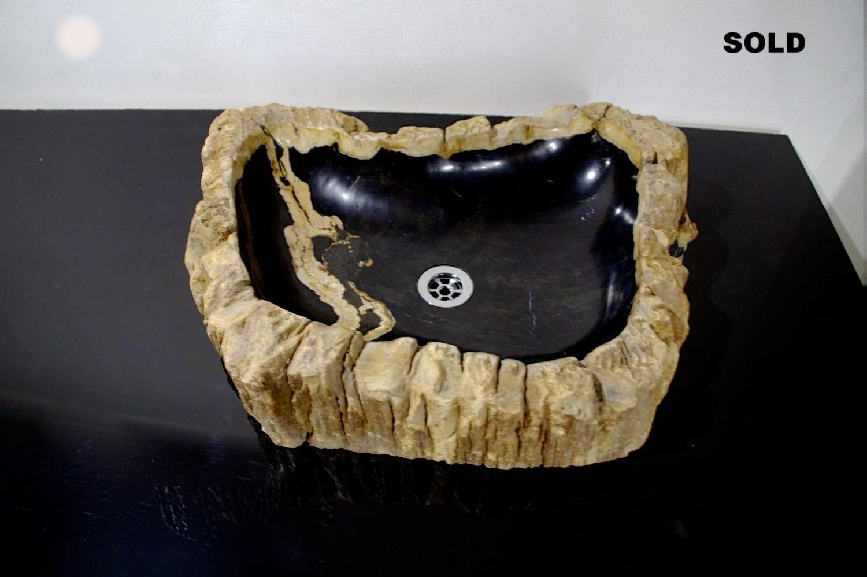 Раковина из окаменелого дерева 014