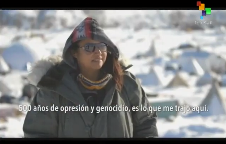 """Reportaje  para TeleSUR: EEUU: mujeres, la base de lucha contra el proyecto """"Dakota Access"""""""