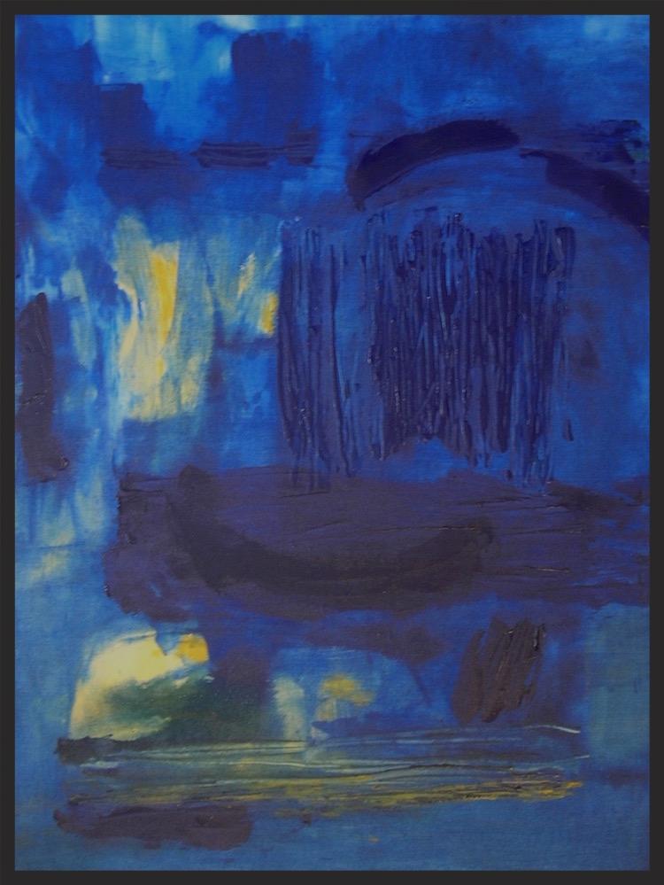 "Blue Marsh No. 2 . 48"" x 36""  Hendershot"
