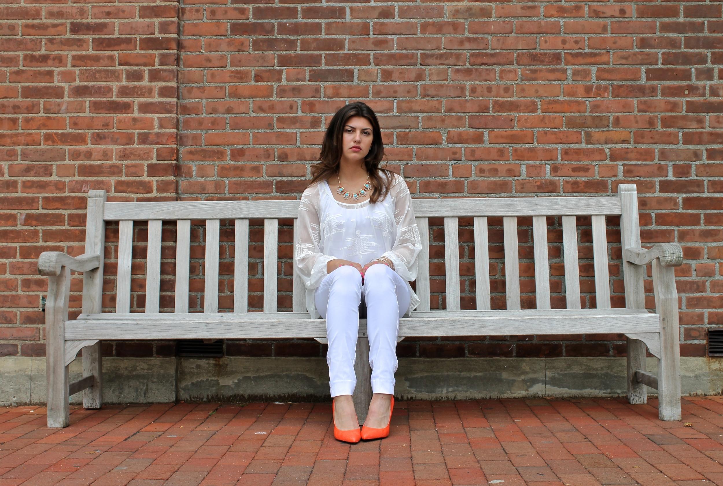 white clothing for summer