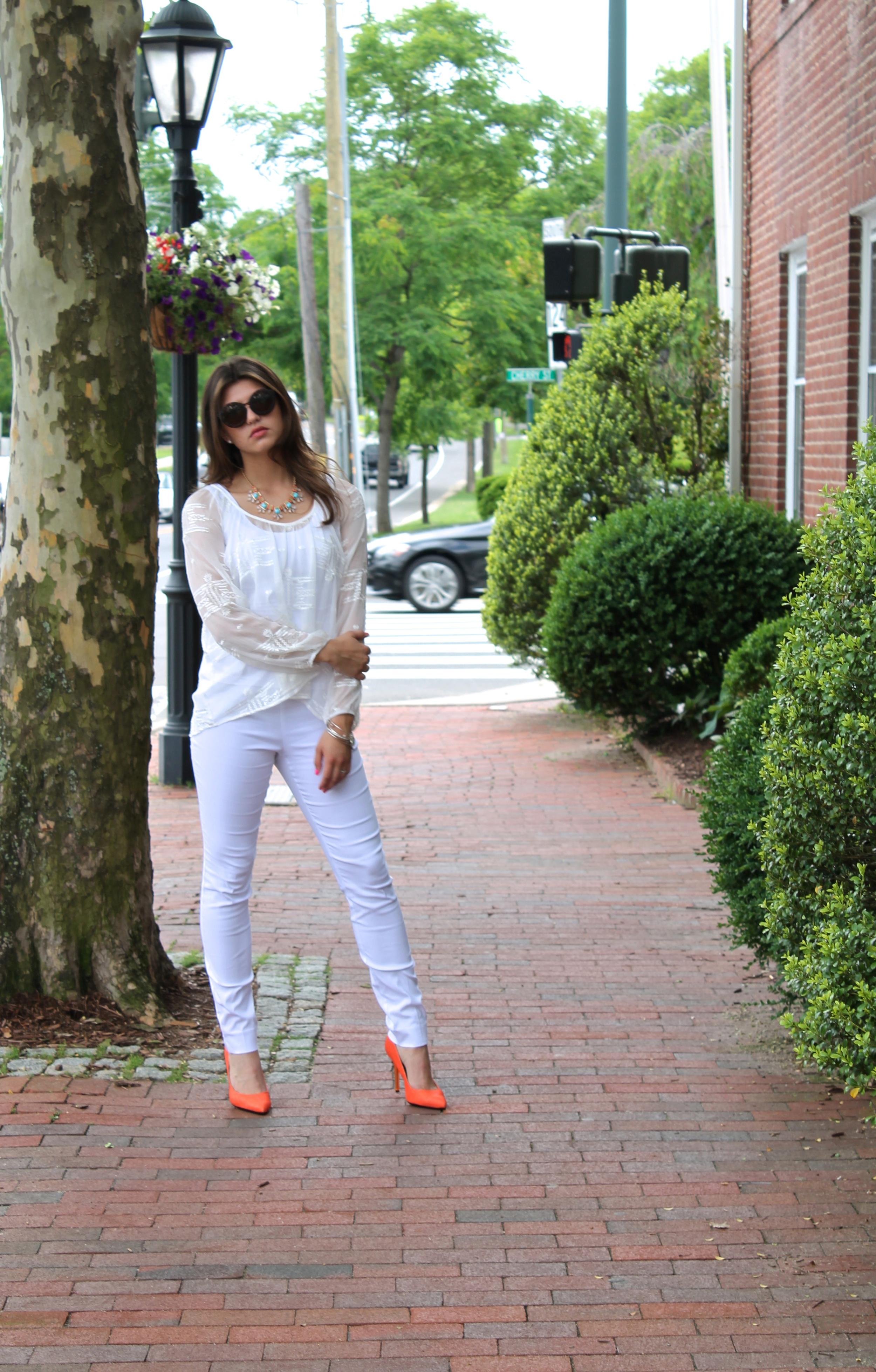 white clothing  summer
