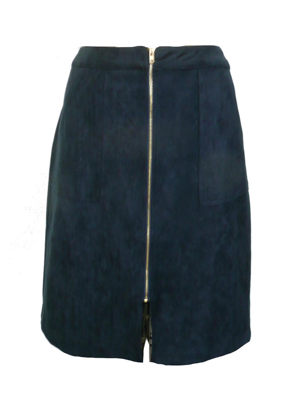 skirt navy faux suede.jpg