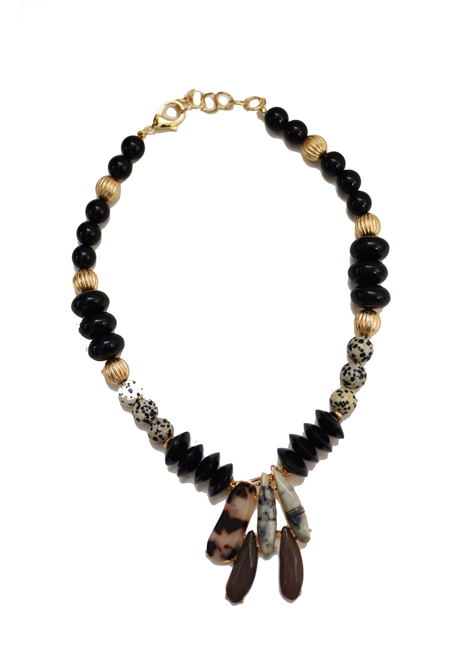 Bead and stone necklace  $49.