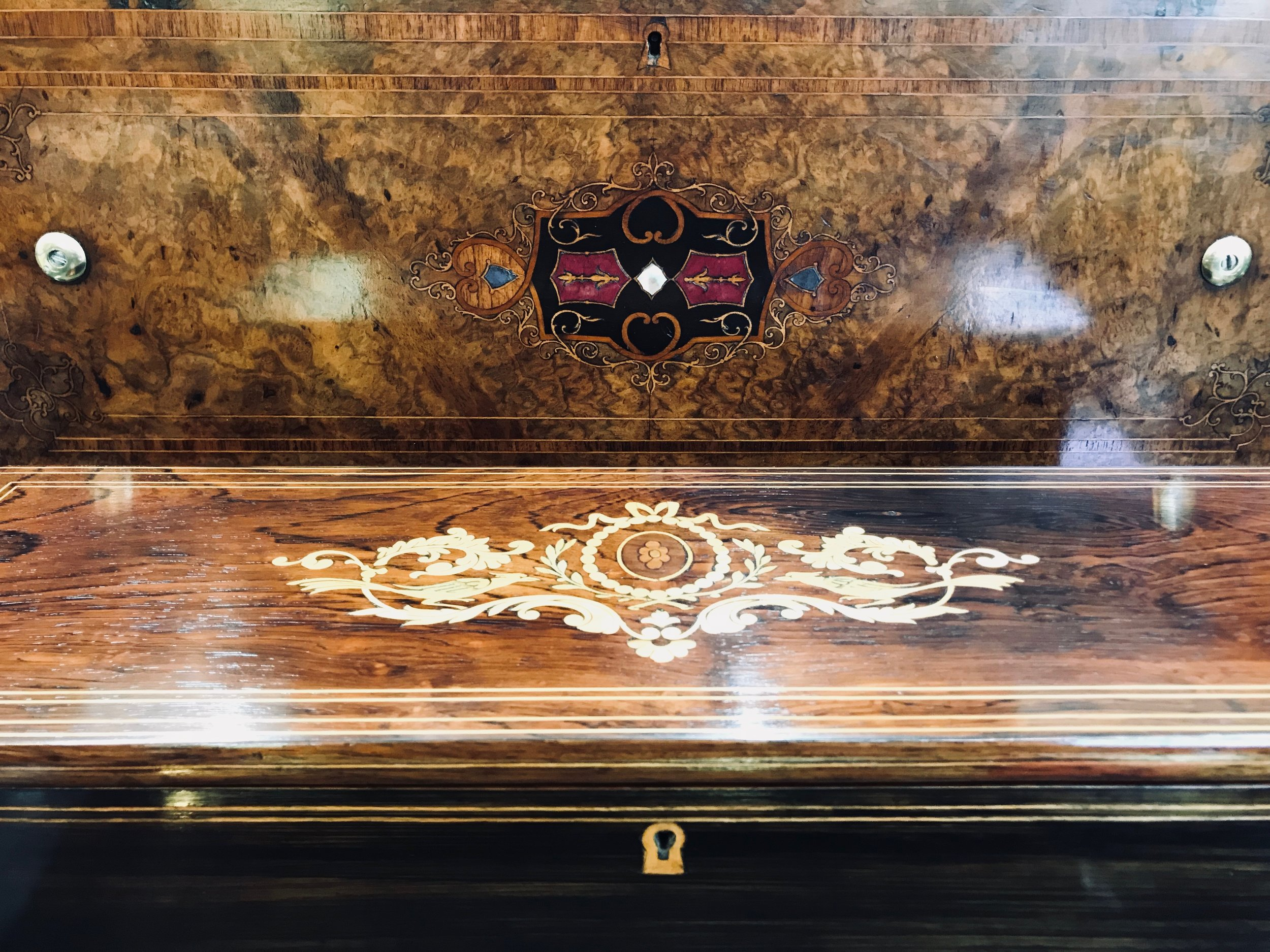 Two Fully Restored Antique Music Box Cases .jpeg