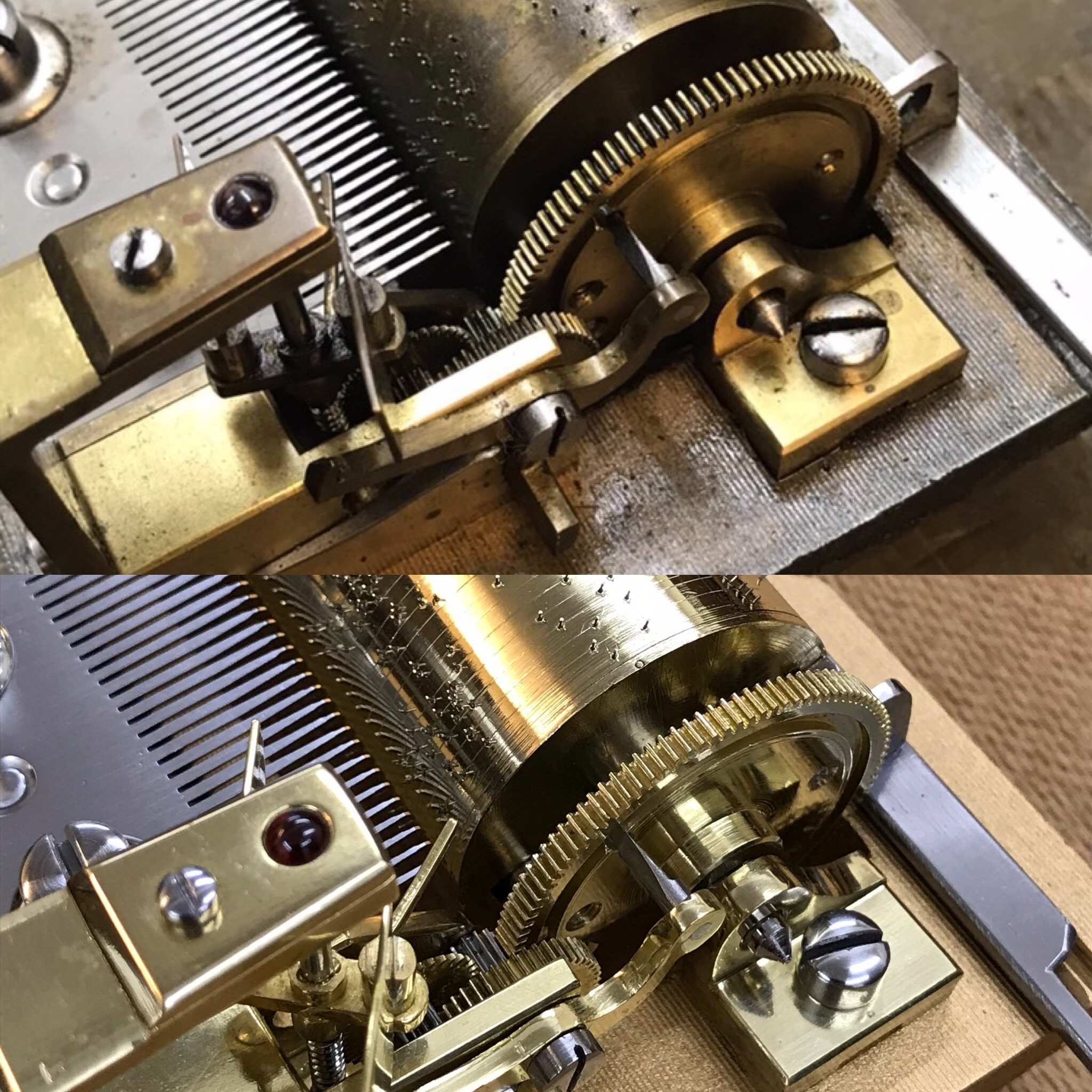 Before and After Mechanism Full Overhaul, Clean & Polish