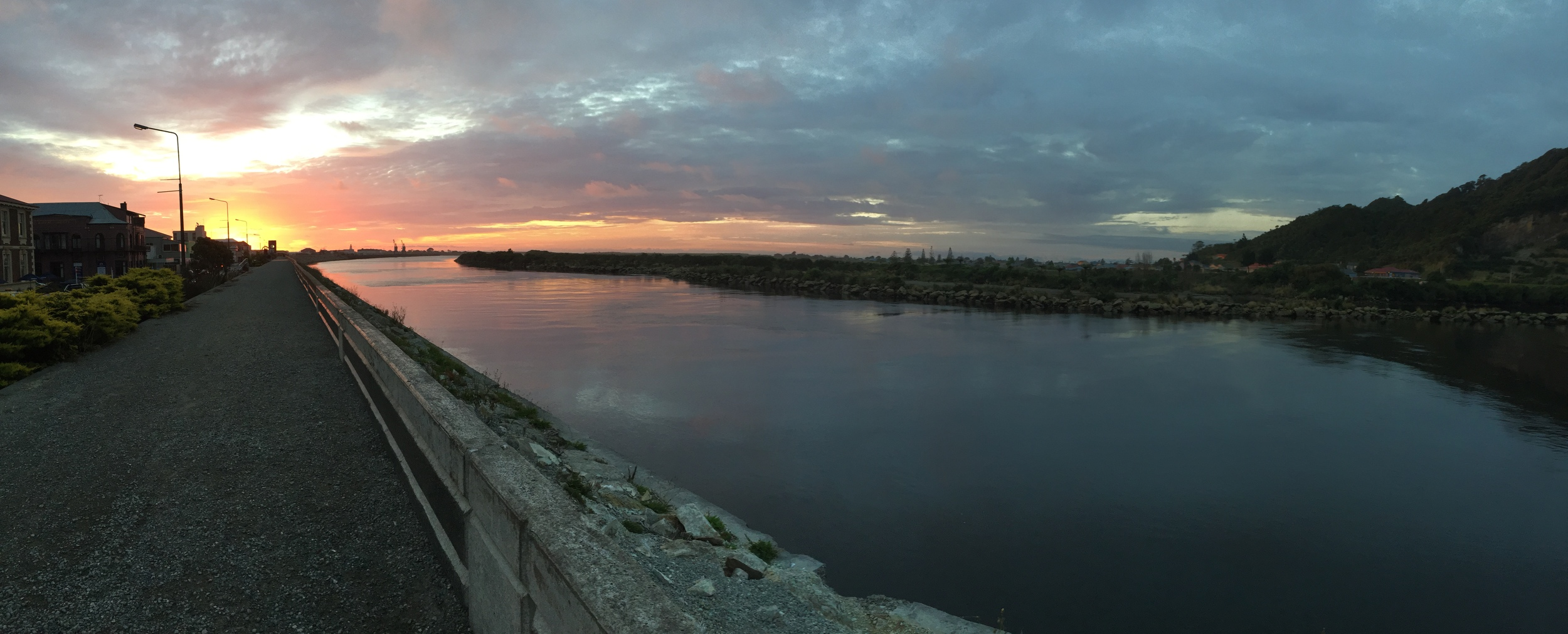 You have to watch the sunset over greymouth.