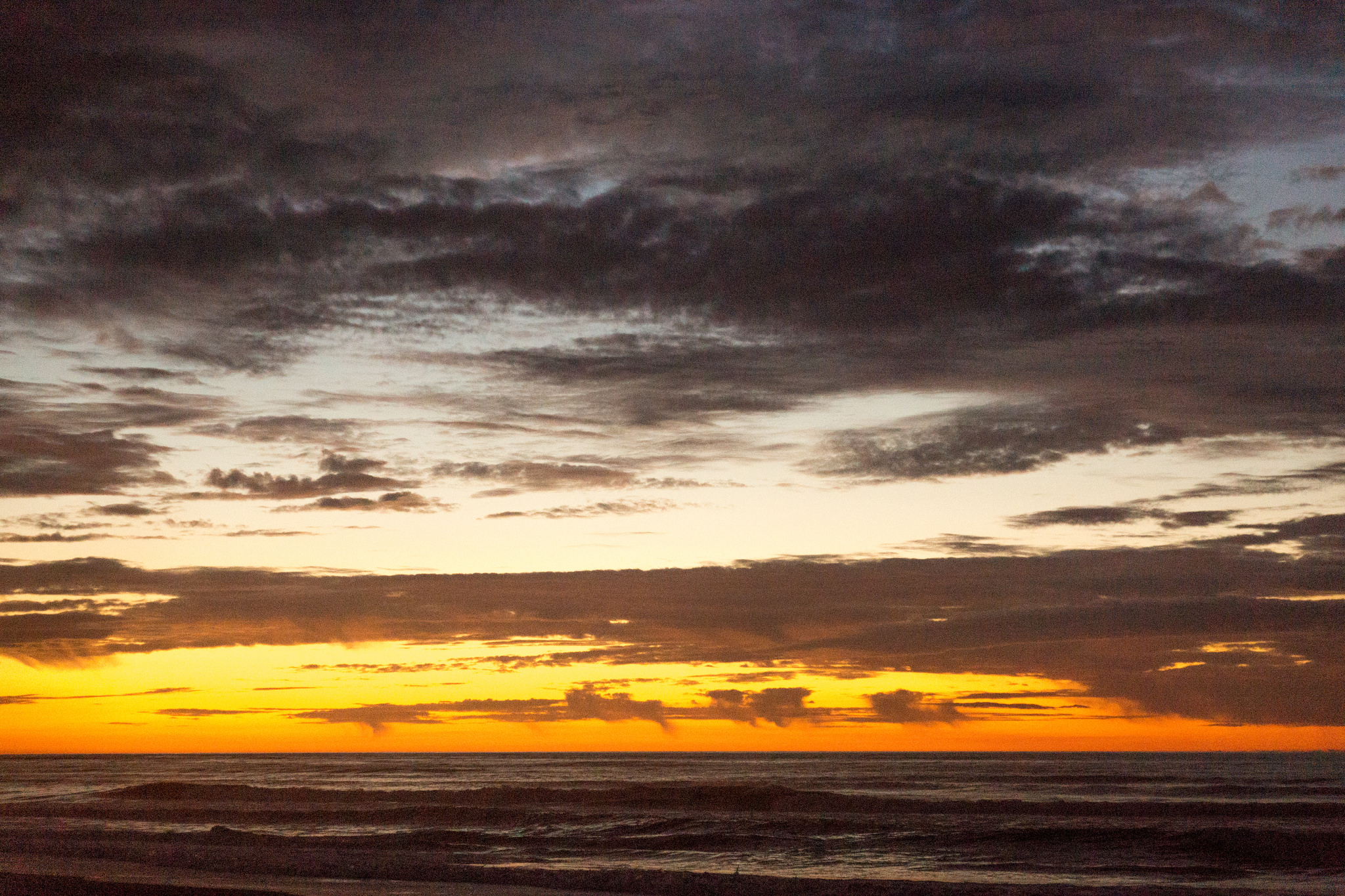 This is the sunset over the west Coast of New Zealand.