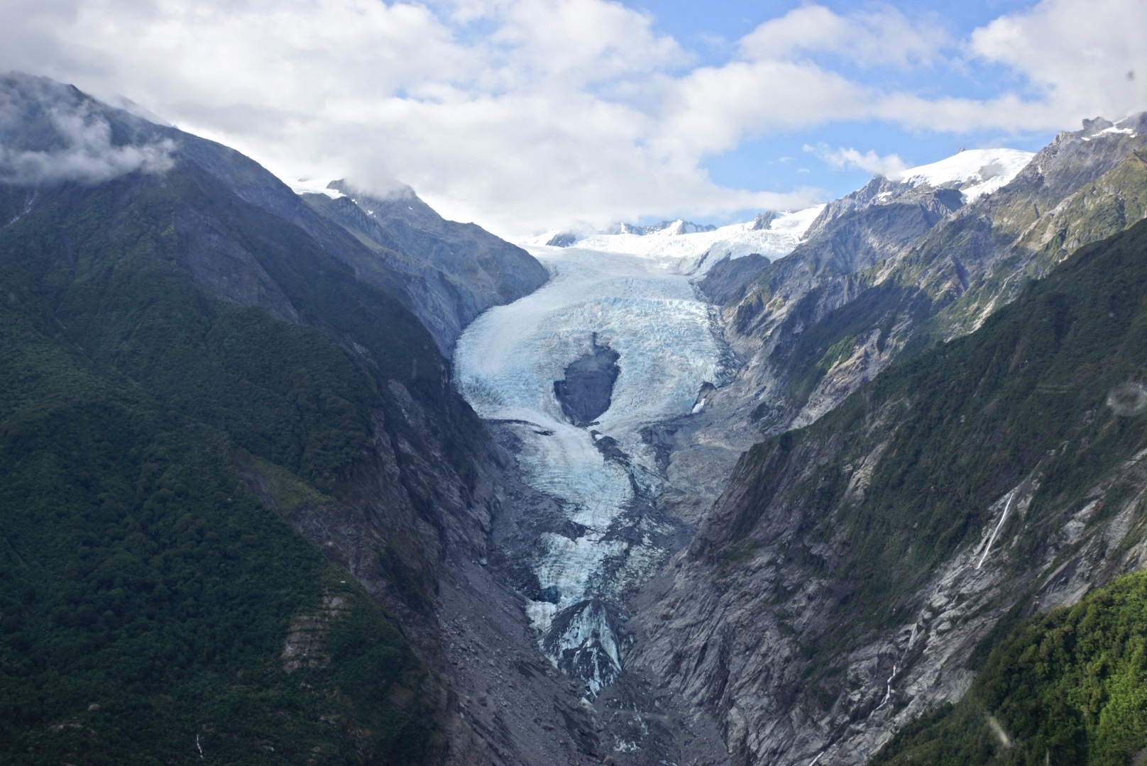 Franz Josef Glacier from Helicopter