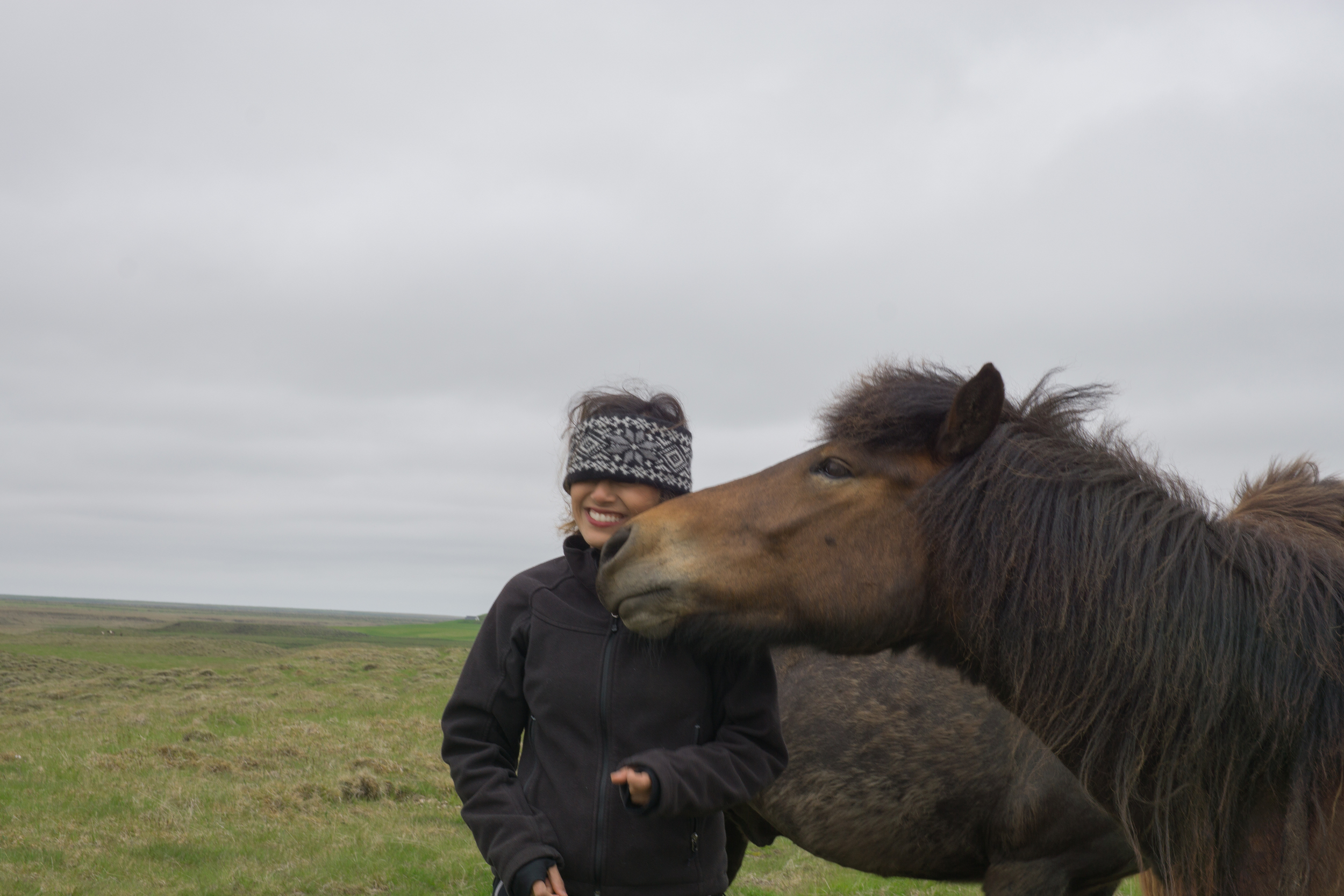 This horse is trying to eat me!