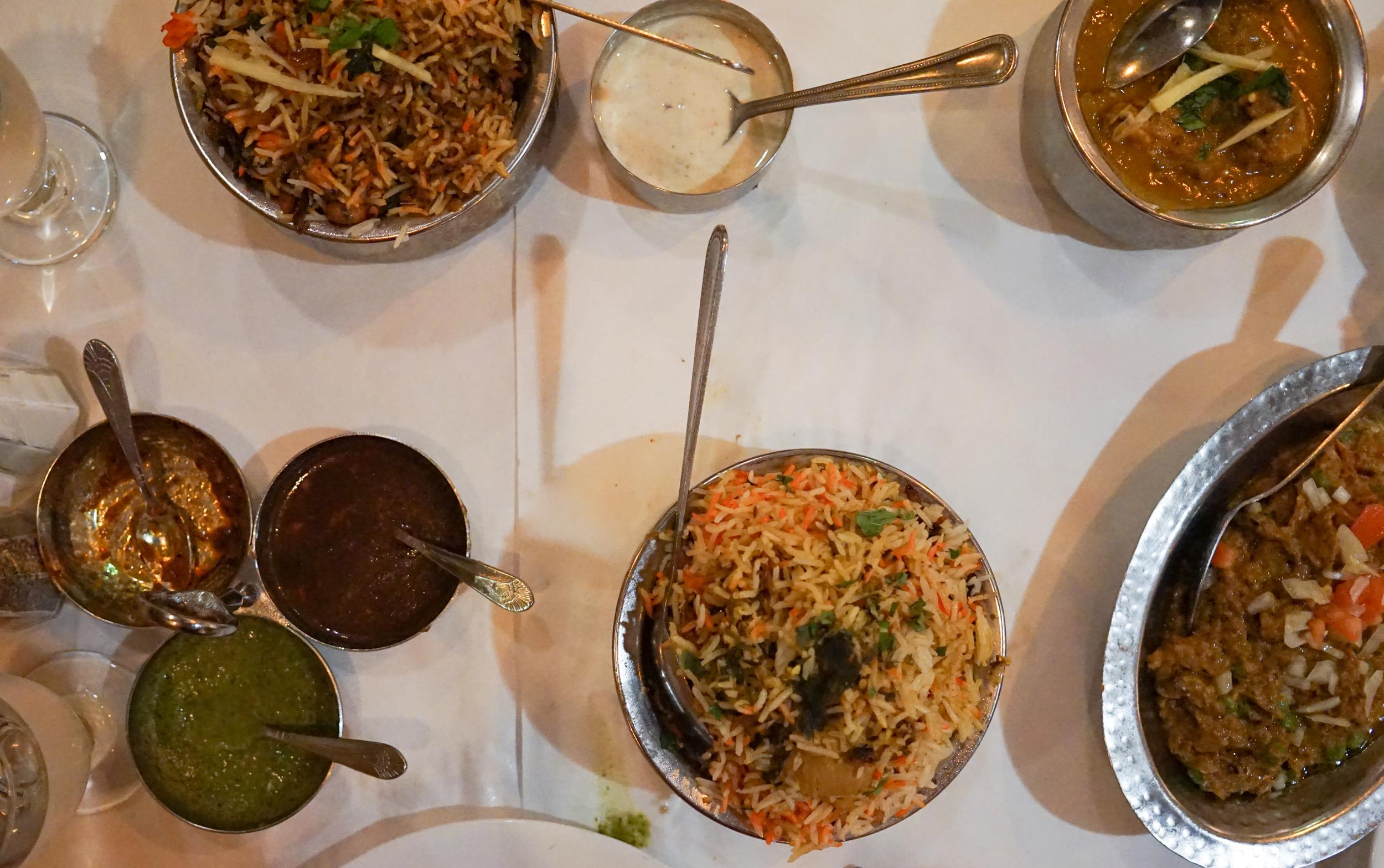 Chicken Biryani, Lamb Biryani, Baigan Ka Bharta