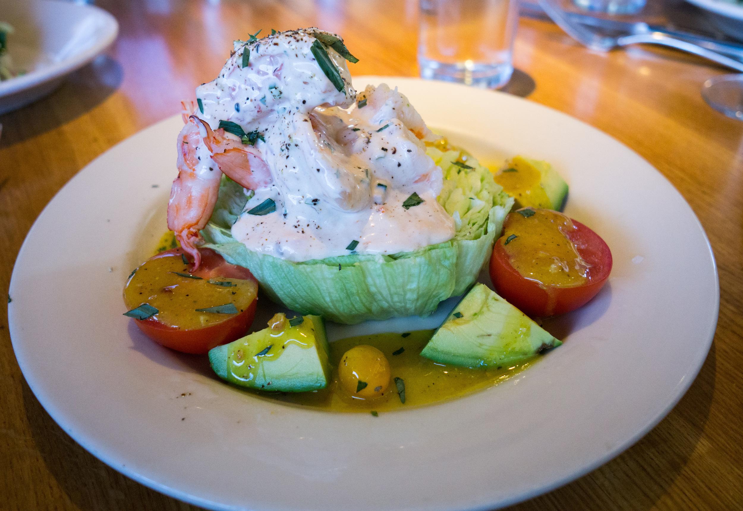 Shrimp Louie Salad has excellent dressing