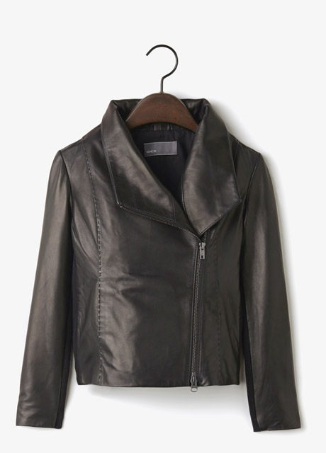 Vince Leather Scuba Jacket , $995