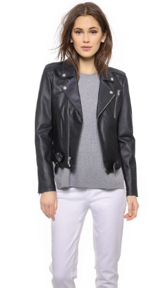 Theory Sahral Leather Moto Jacket