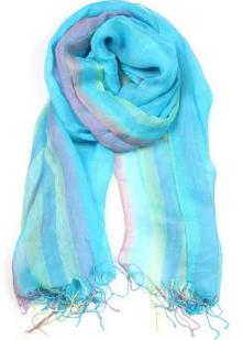 Necklush Blue Linen Scarf, $30