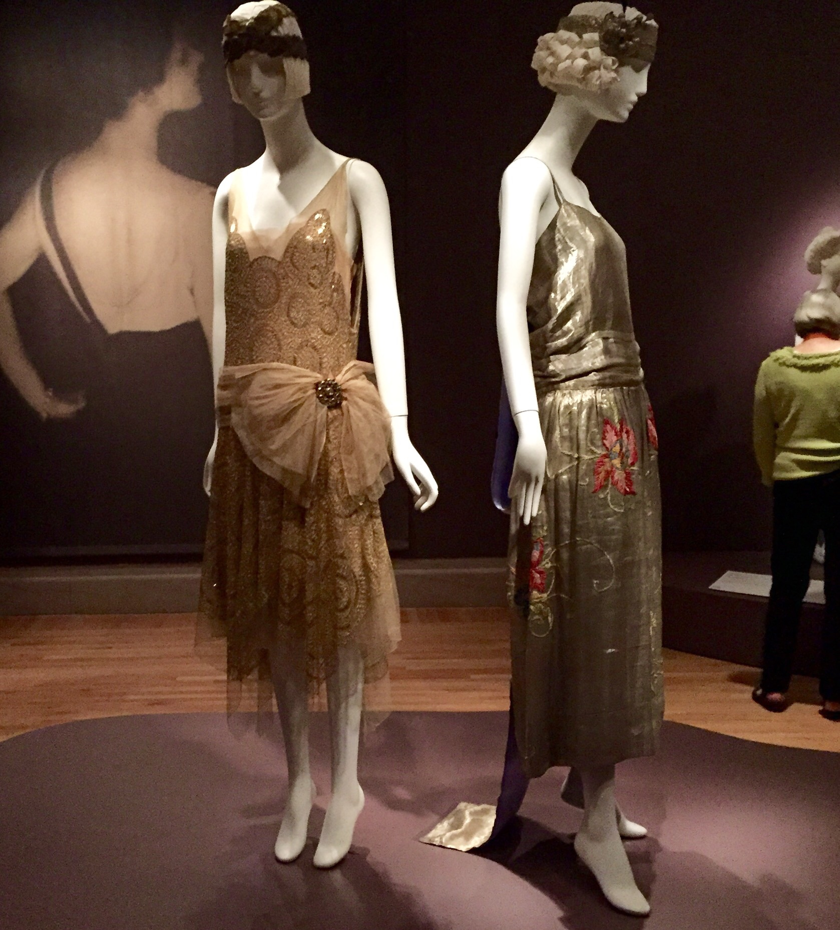 These dresses from the 1920's were the first pieces we saw when we walked in.