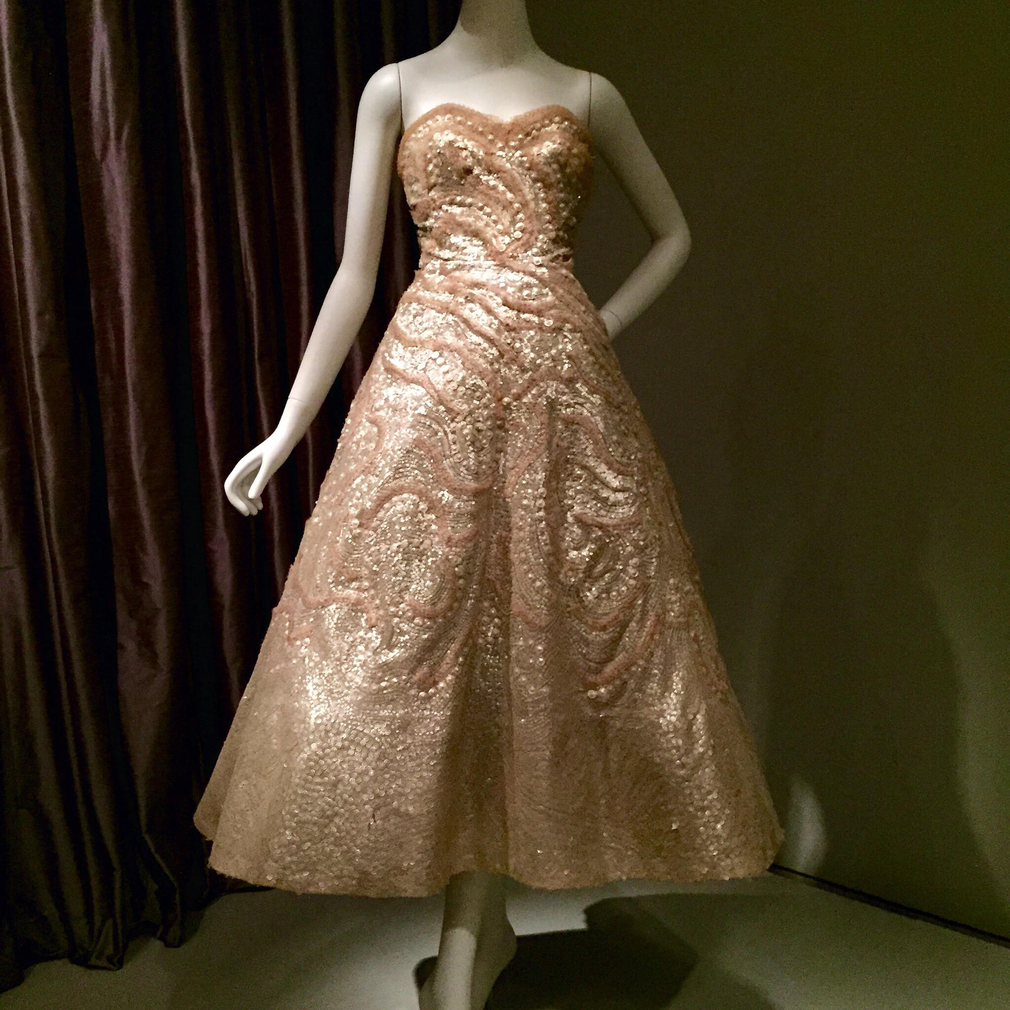 Christian Dior sequin dress.