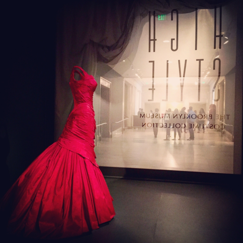This red dress was a showstopper.