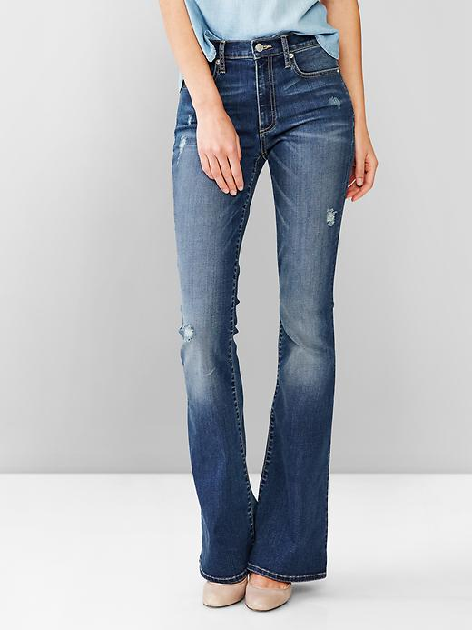 1969 resolution vintage destructed skinny flare jeans, GAP, $79.95